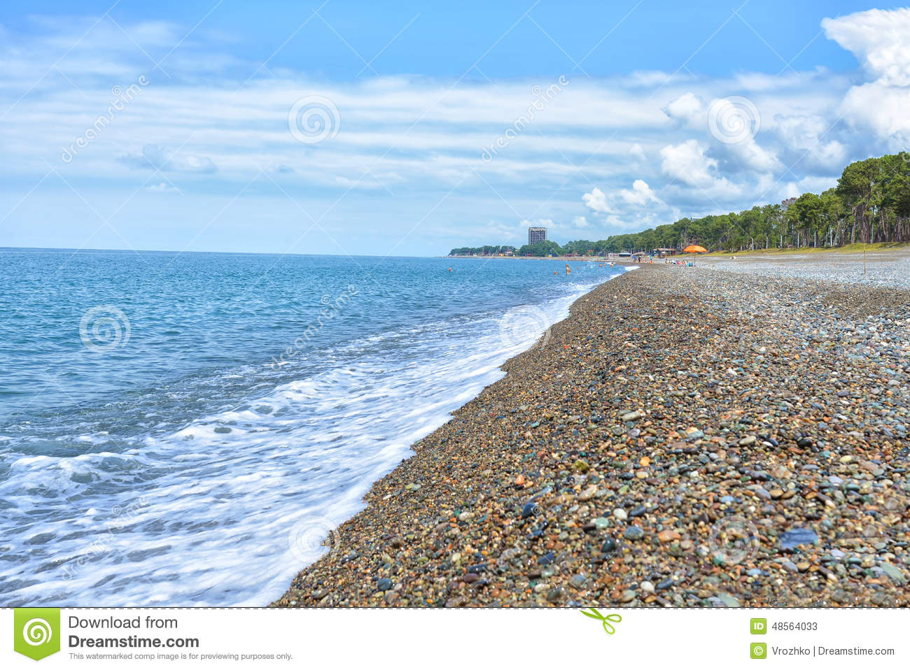 Georgia Batumi Beach Landscape Coast Black Sea Stock Photo