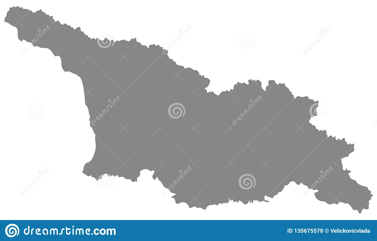 Georgia Country Map Is A Country In The Caucasus Region Of Eurasia