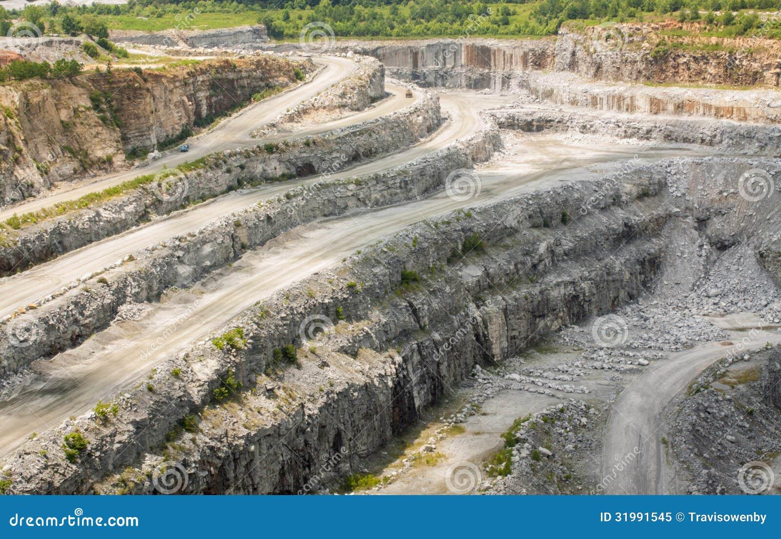 Georgia Granite Mine Royalty Free Stock Photo Image