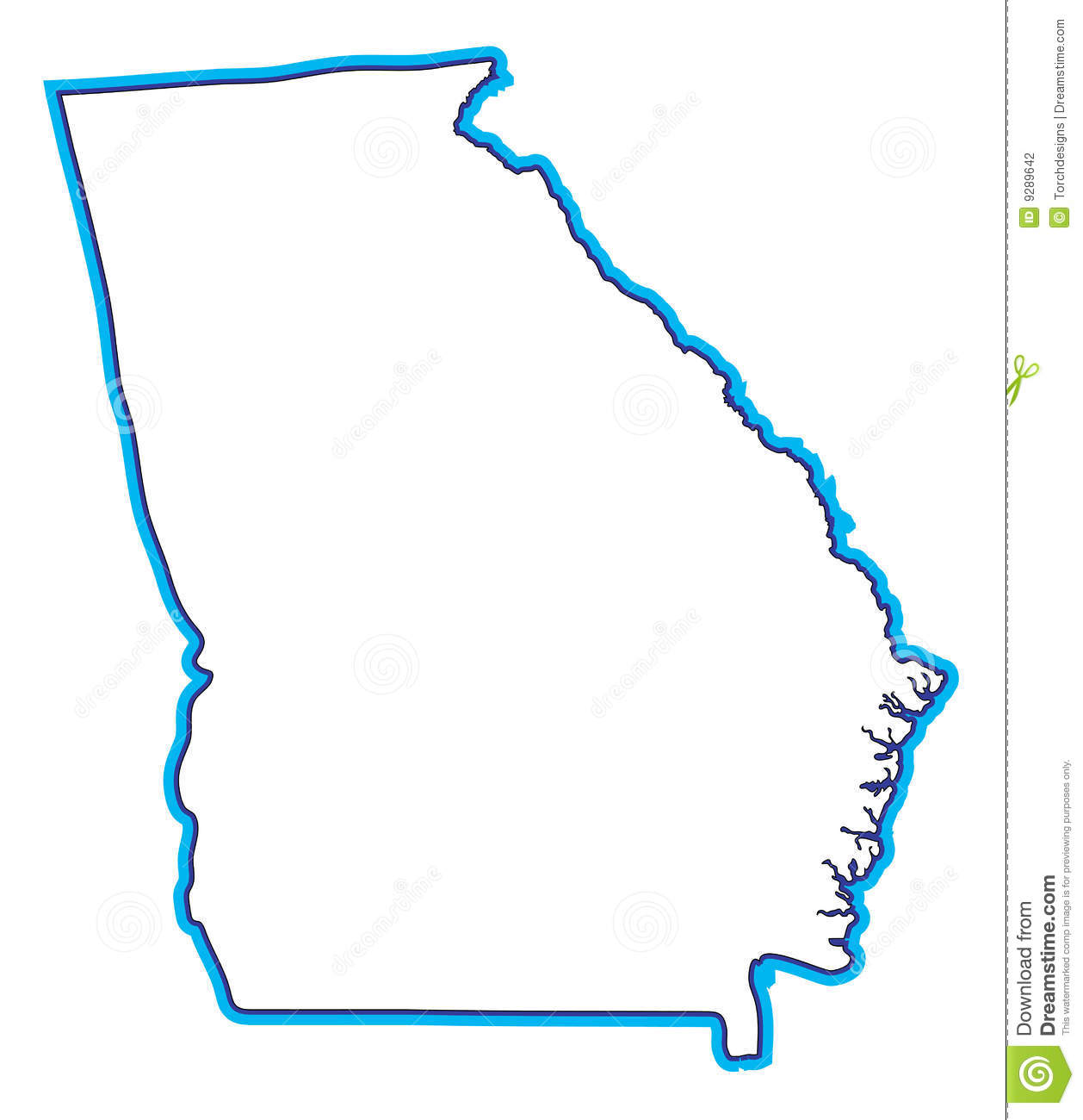 Georgia Map Illustration Stock Photography Image - Georgia map vector free download