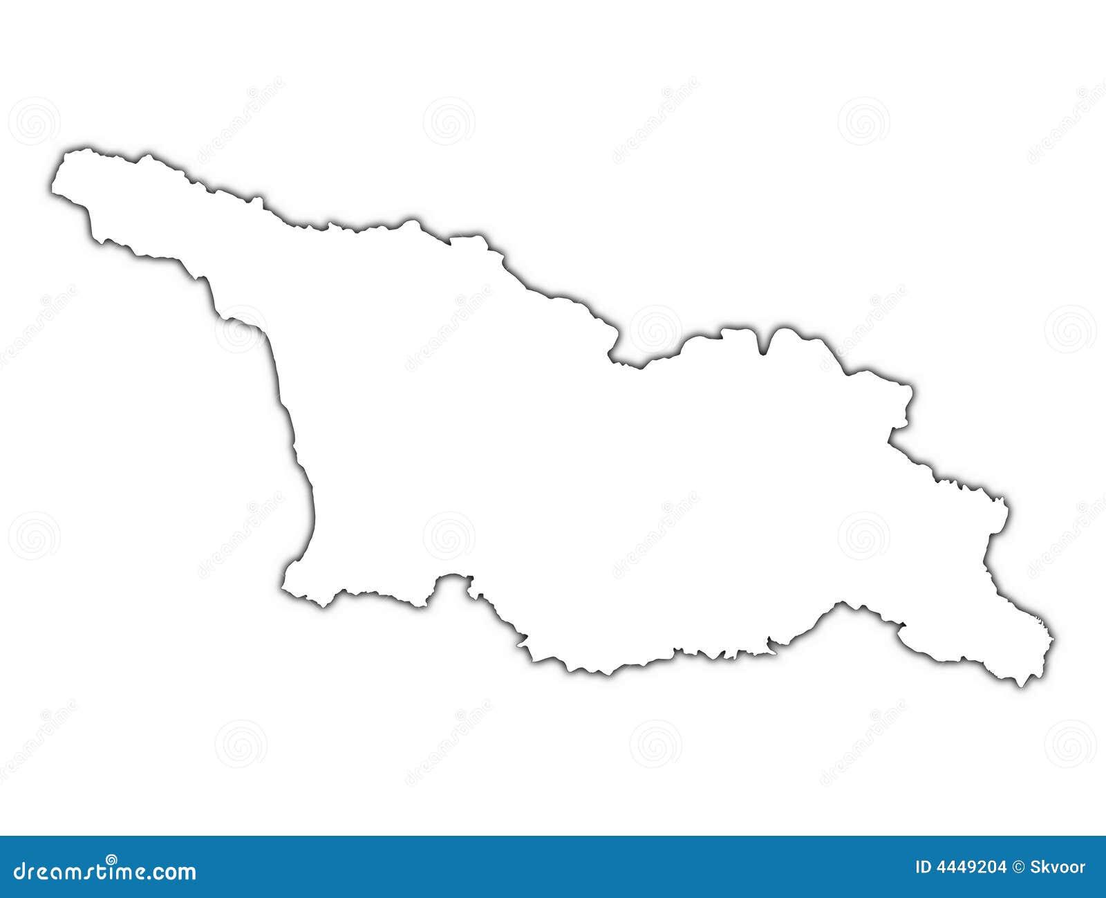 Georgia Outline Map Stock Illustration Illustration Of Black 4449204