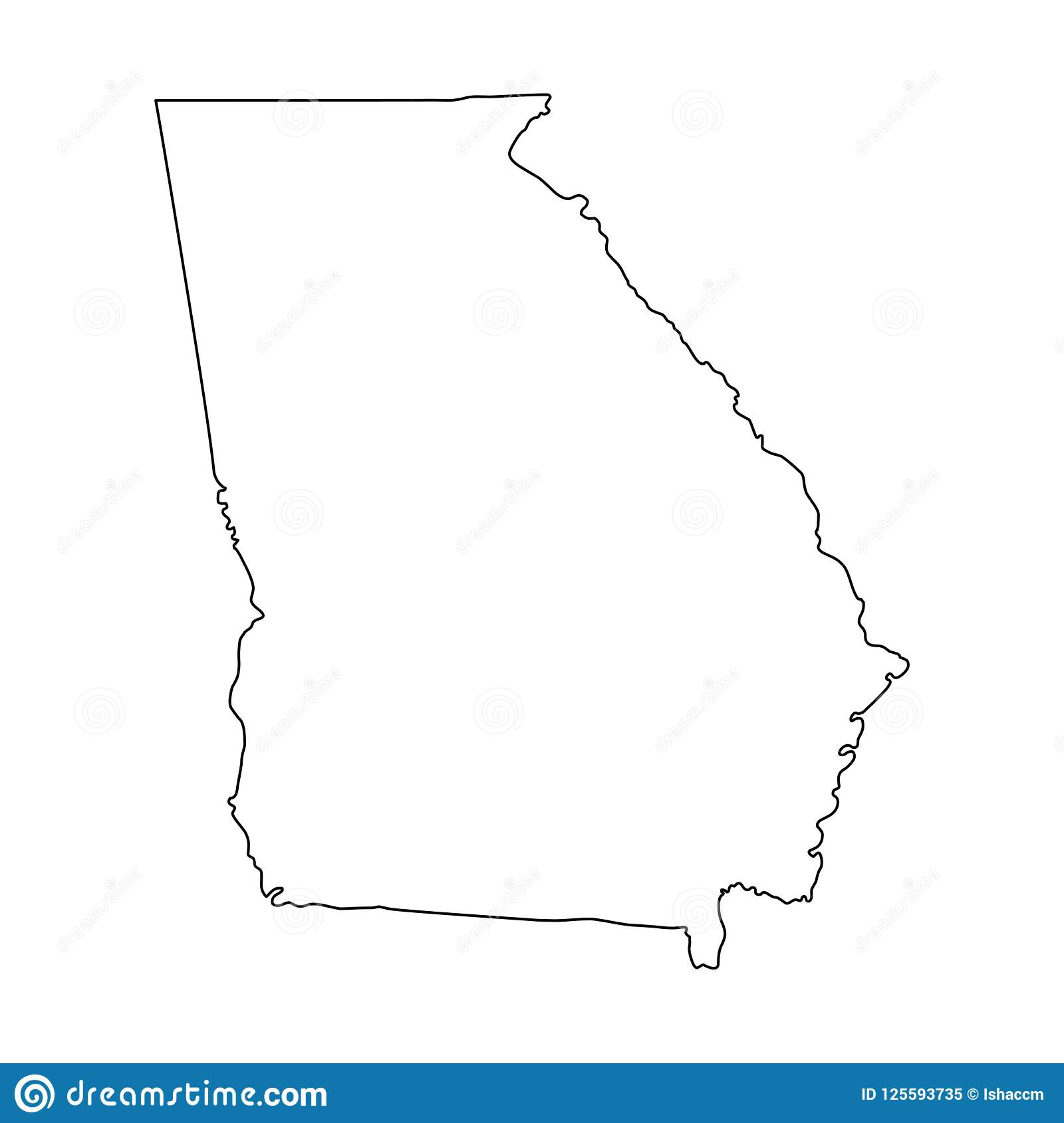 Outline Of Georgia Map.Georgia Outline Map Vector Illustration Stock Vector Illustration