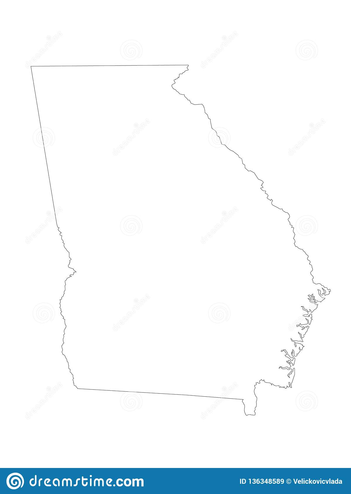 Georgia U. S. State Map - State In The Southeastern United ...