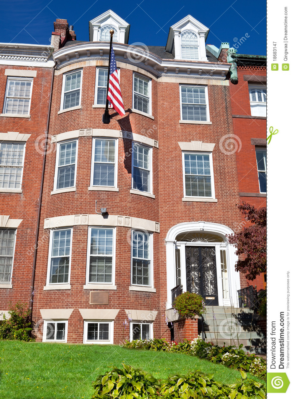 Georgian brick townhouse row house washington dc royalty for House plans wa