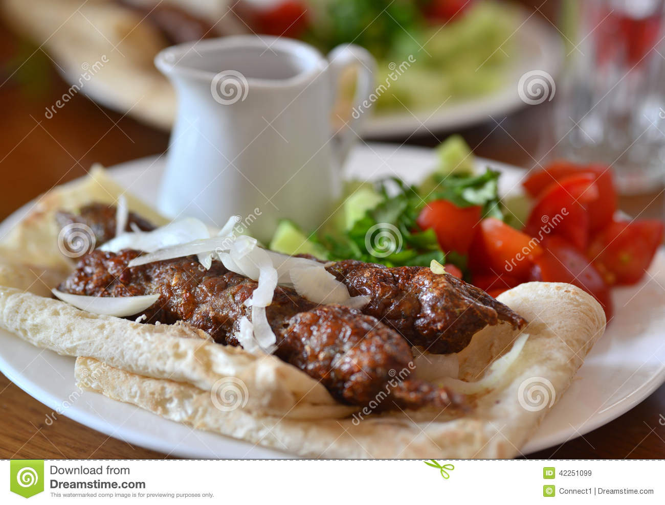 Georgian cuisine - kebab in pita bread