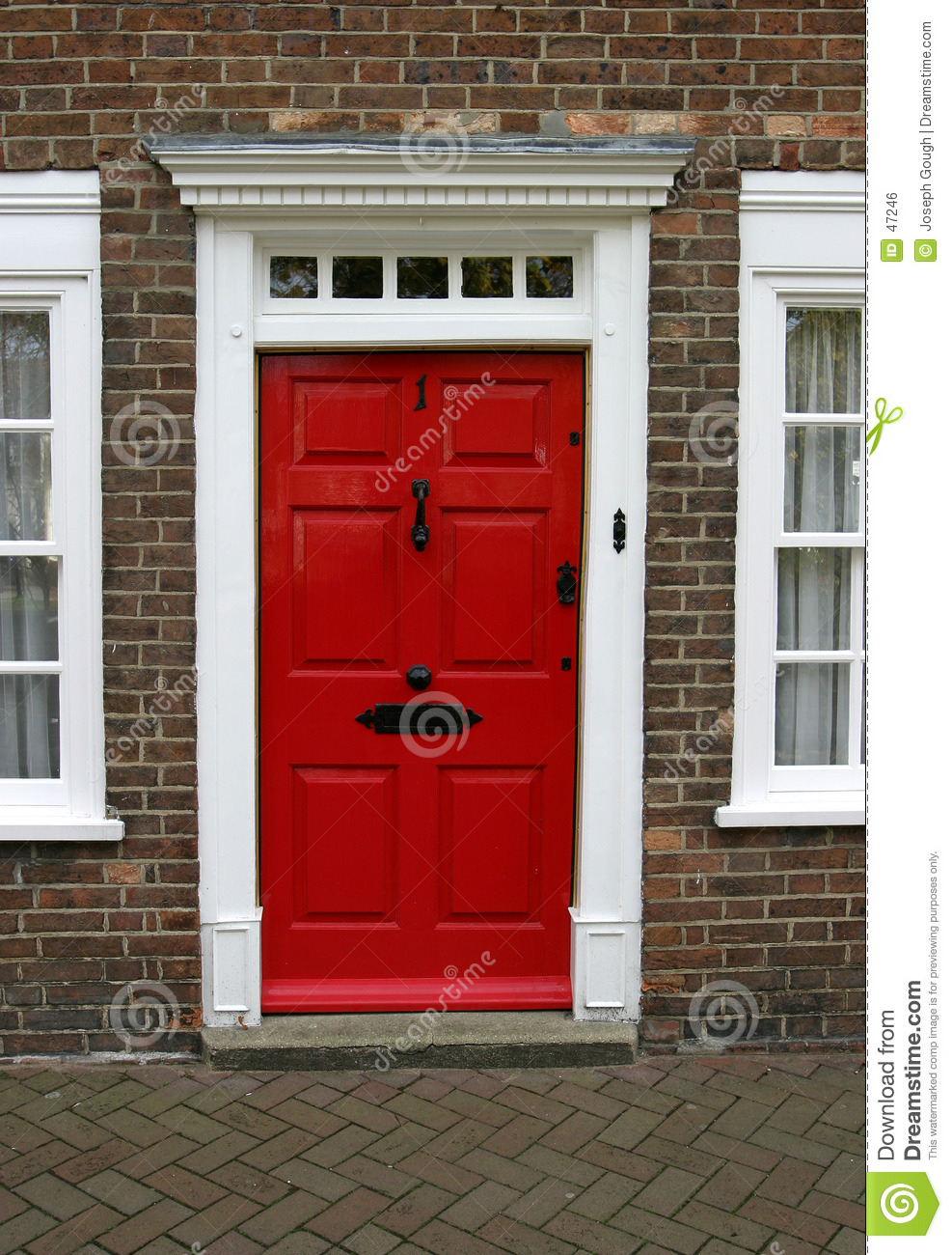 Georgian house door exterior royalty free stock image image 47246 for Where to buy exterior doors for home