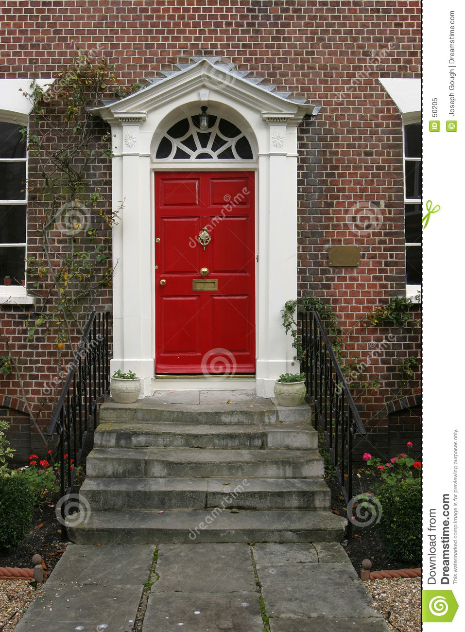 Georgian House Door Exterior & Georgian House Door Exterior Stock Image - Image of steps brass: 50205