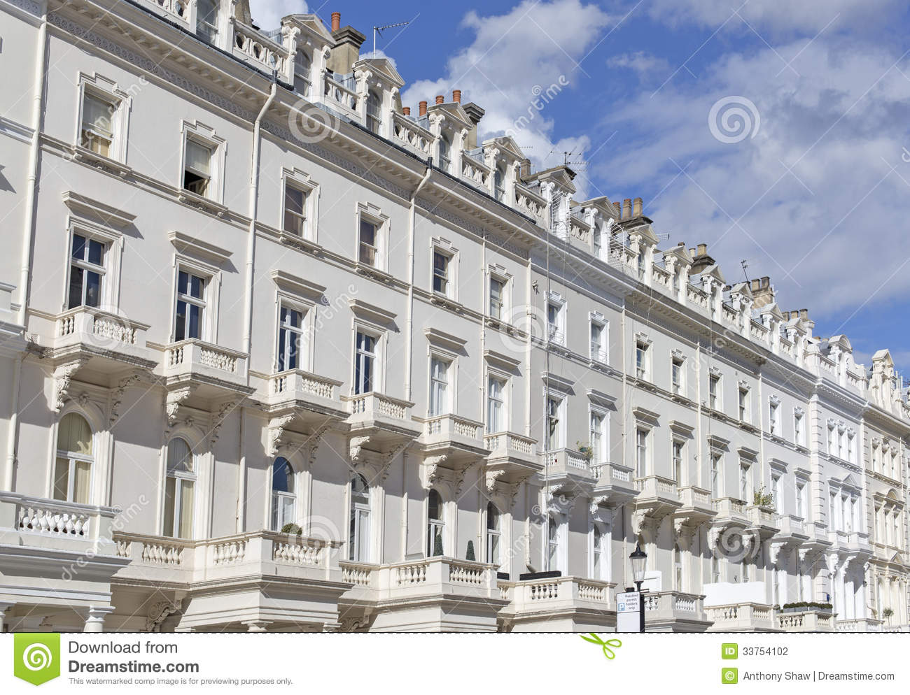 Georgian Stucco Front Houses In London Stock Photography Image 33754102