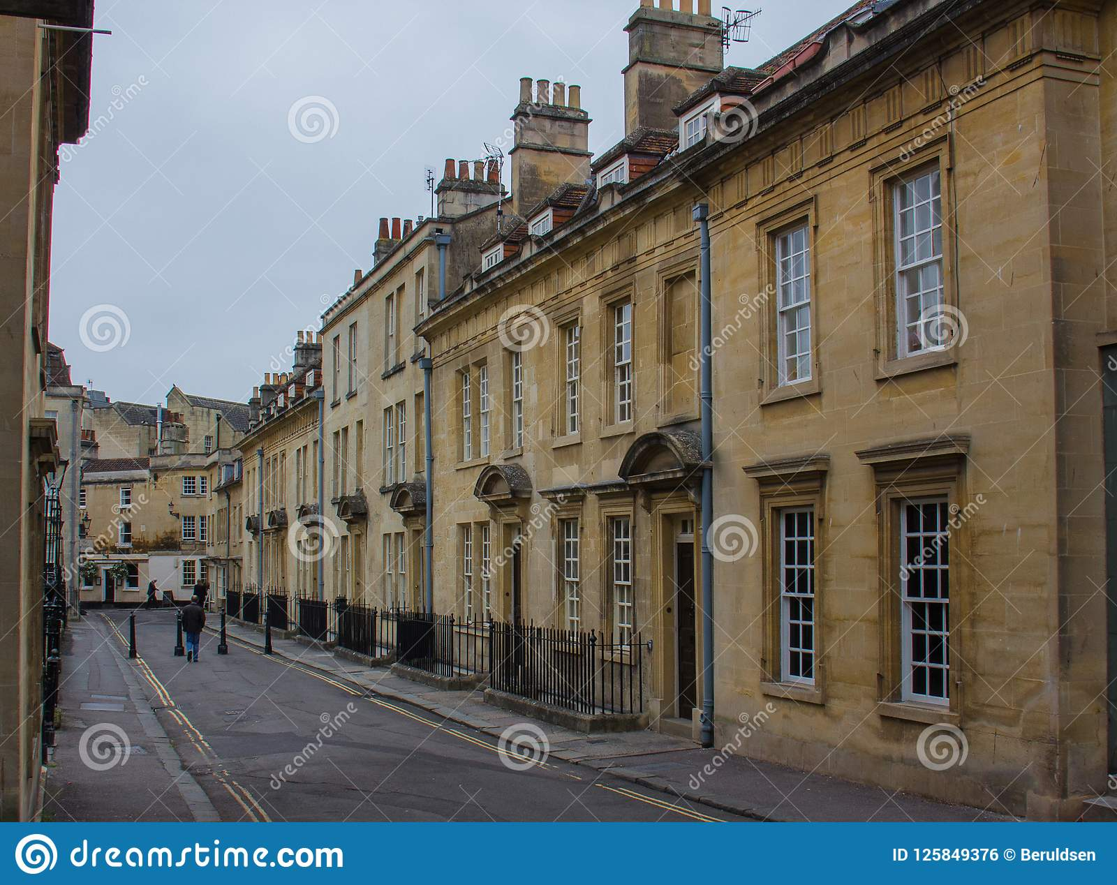 Apartments Of The Georgian Style In Bath, England Stock ...