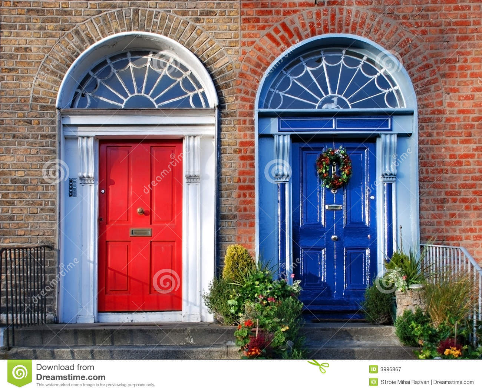 Georgische deuren in Dublin