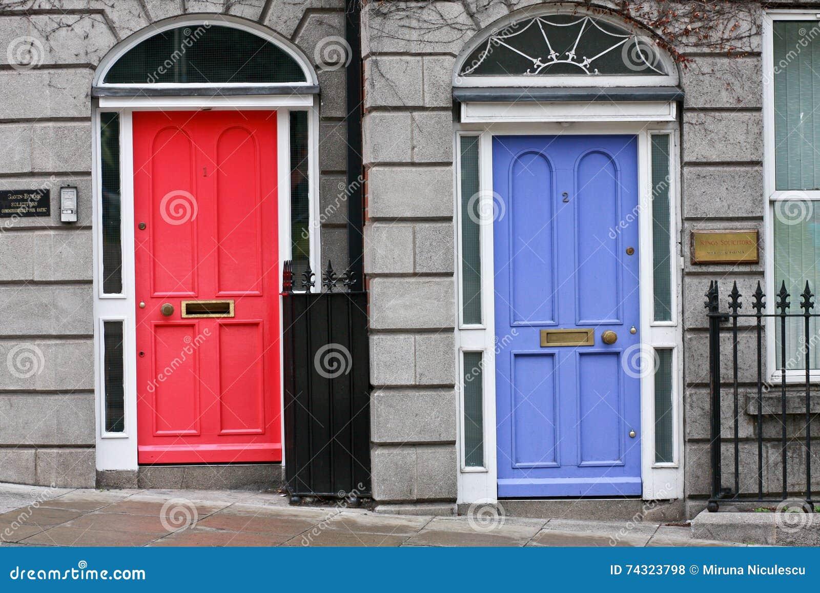 Georgiska dörrar, dublin, irland redaktionell arkivfoto   bild ...