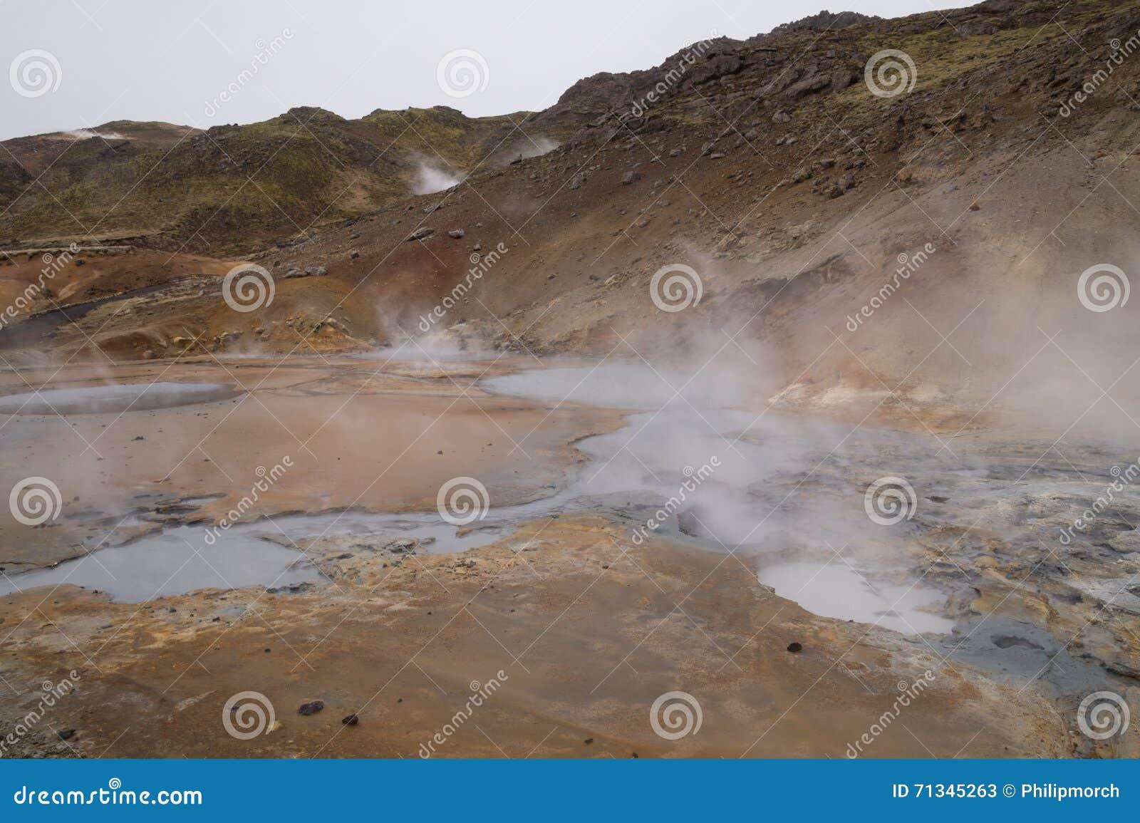 Geotermiczny teren, Seltún, Krà ½ suvik, Iceland