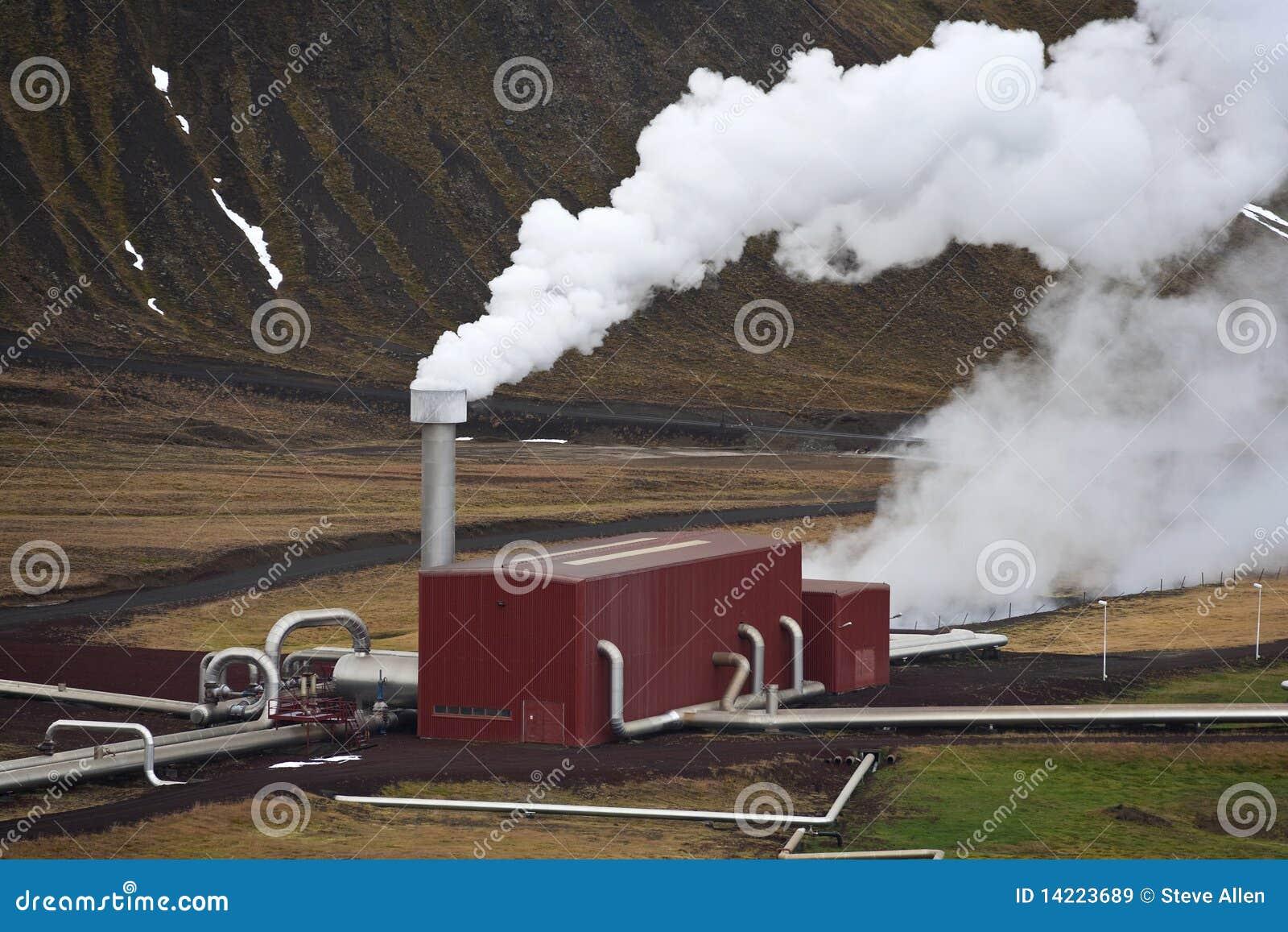 Geotermisk iceland strömstation
