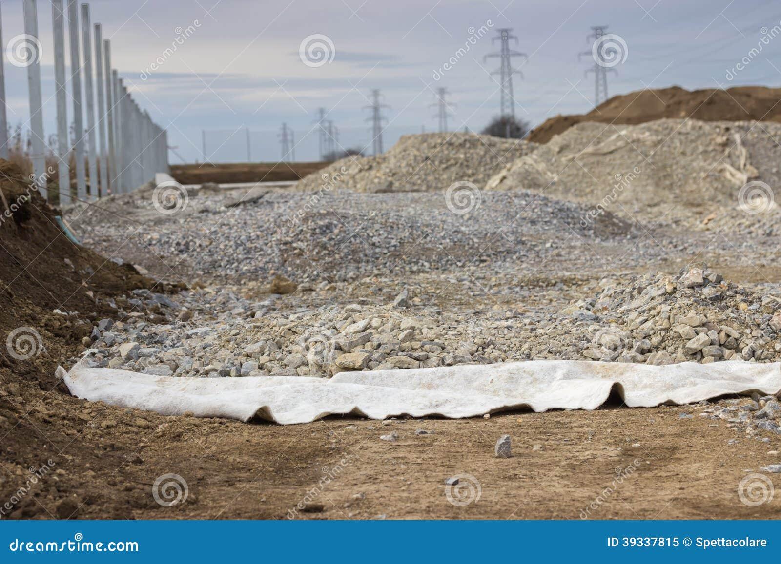 Geotextil usado en la construcción de carreteras