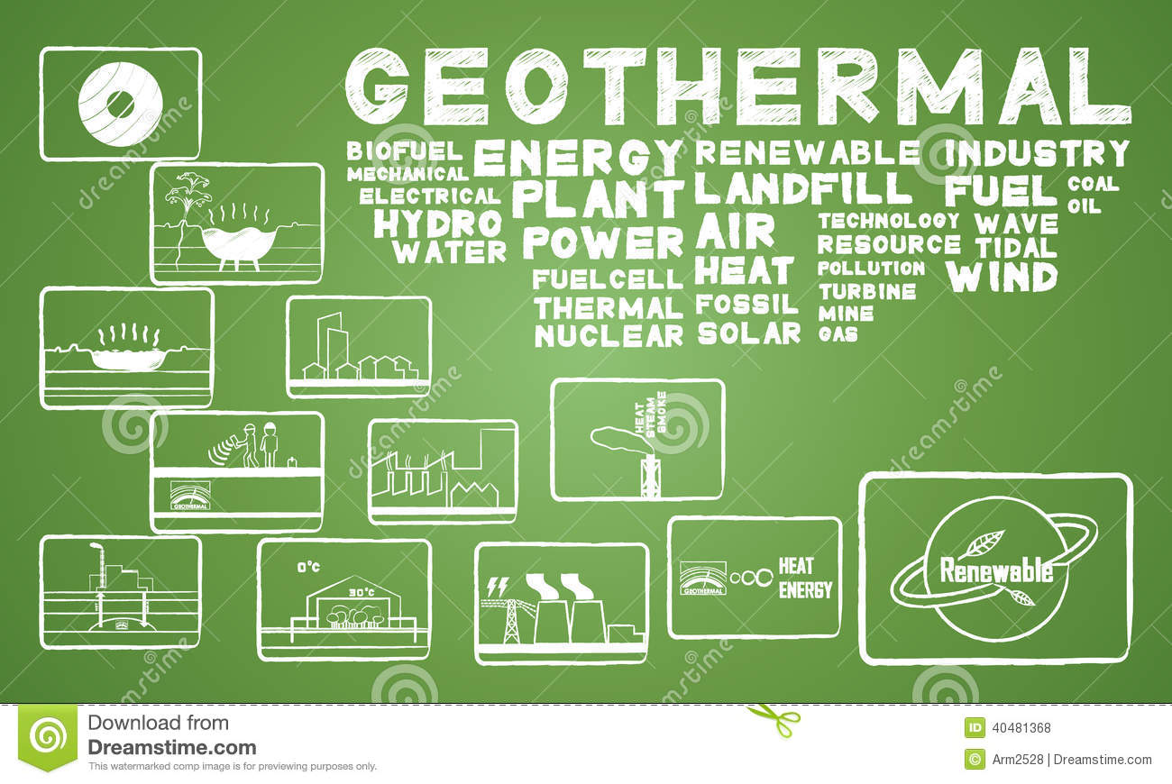 Geothermal Energy Stock Vector - Image: 40481368