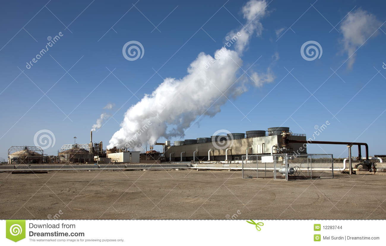 Geothermal Energy Plant California Stock Images - Image: 12283744
