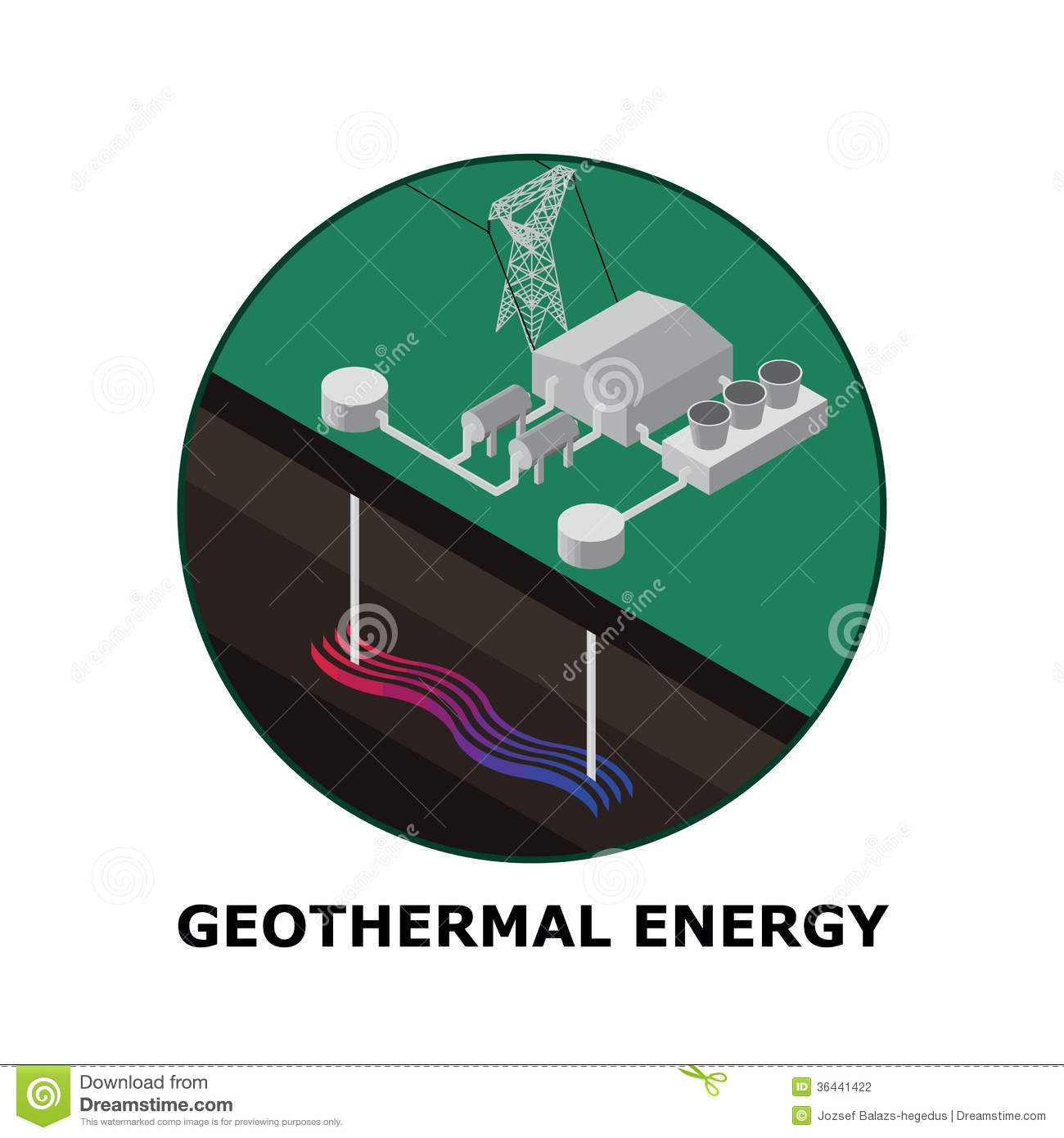 Geothermal energy renewable energy sources part stock vector geothermal energy renewable energy sources part pooptronica