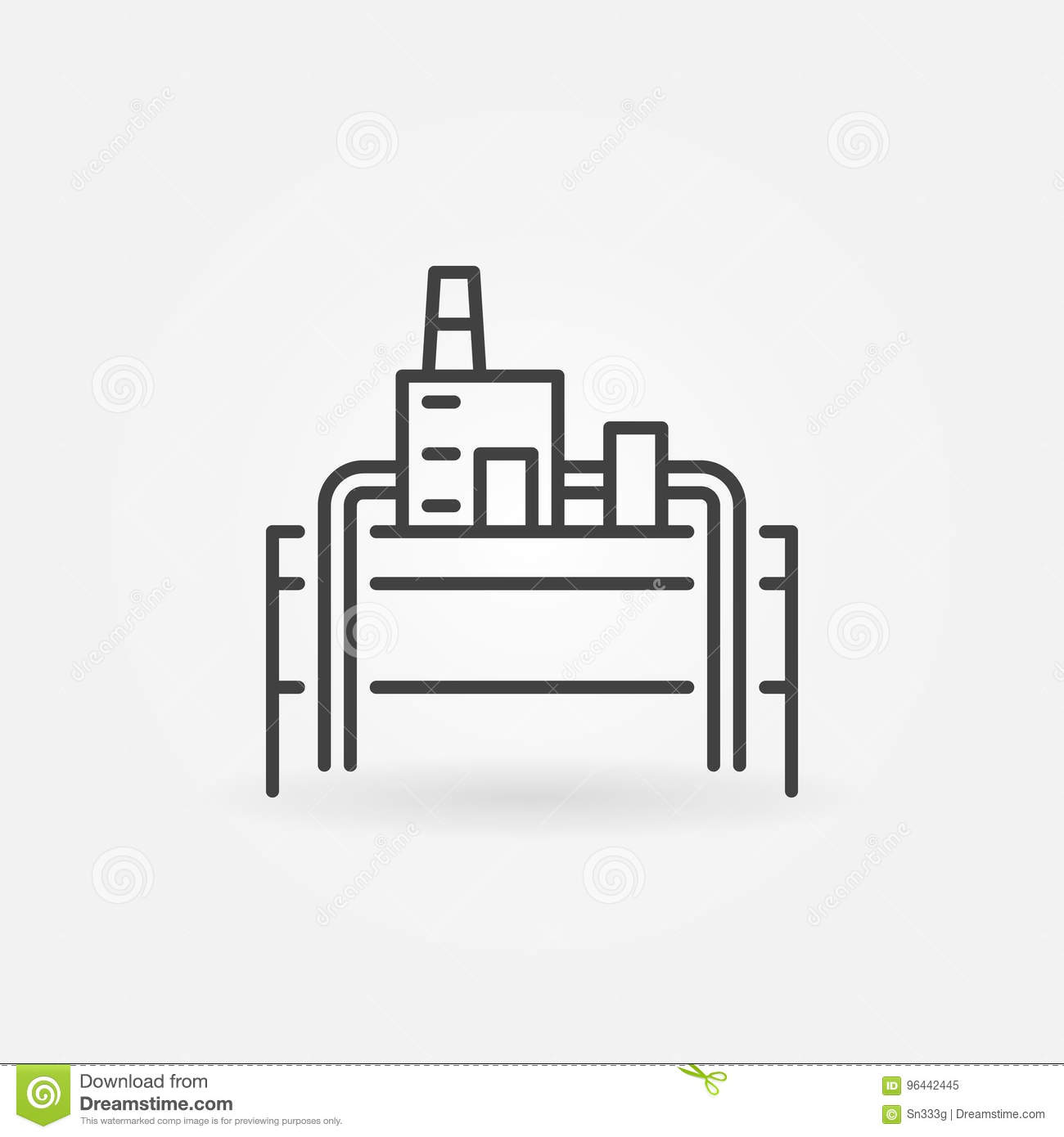 Geothermal Power Plant Icon Stock Vector Illustration Of Pictogram Diagram Download Generation 96442445