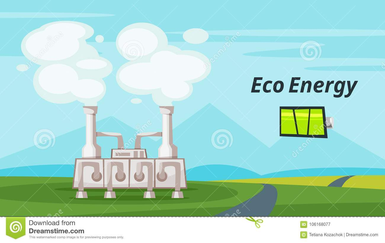Geothermal Power Plant Stock Vector Illustration Of Generating Diagram