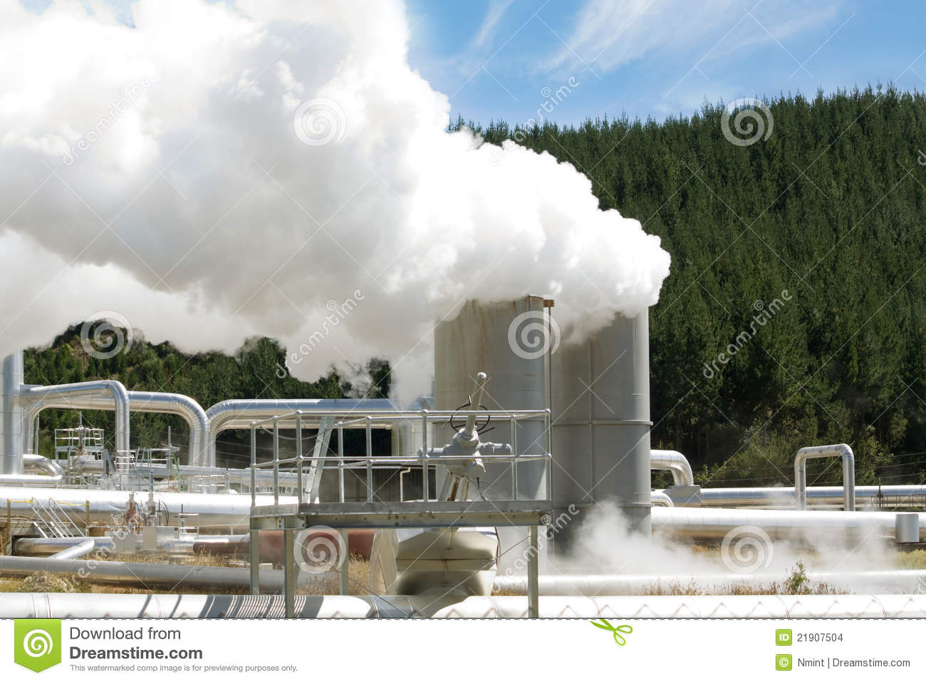 Geothermal Power Station Alternative Energy Stock Images - Image ...