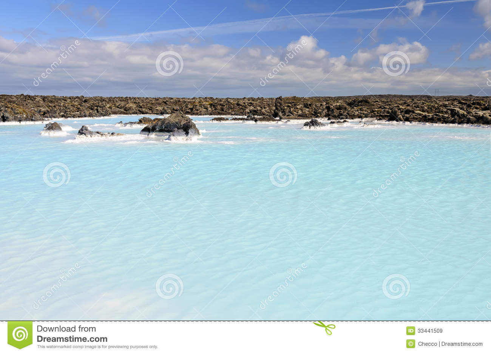 Geothermal Water Pool Near Blue Lagoon Spa Stock Image