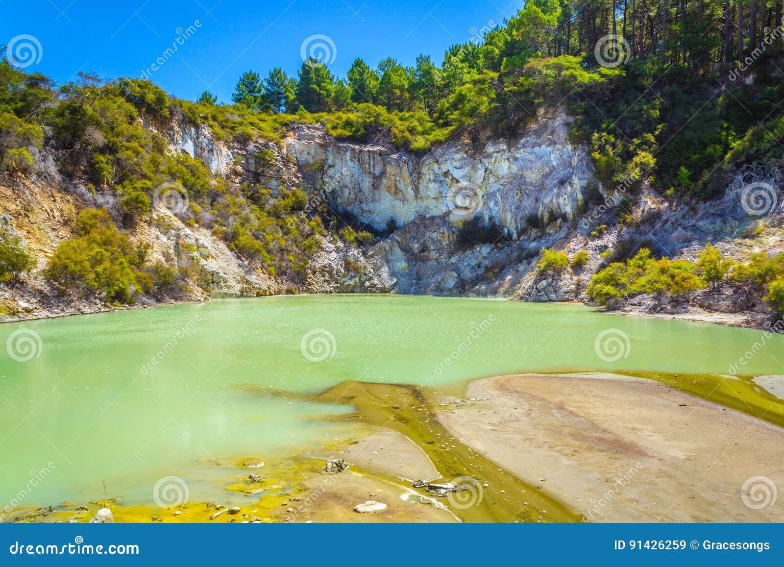 Geothermap-Pool an Wai-O-Tapu oder am heiligen Wasser
