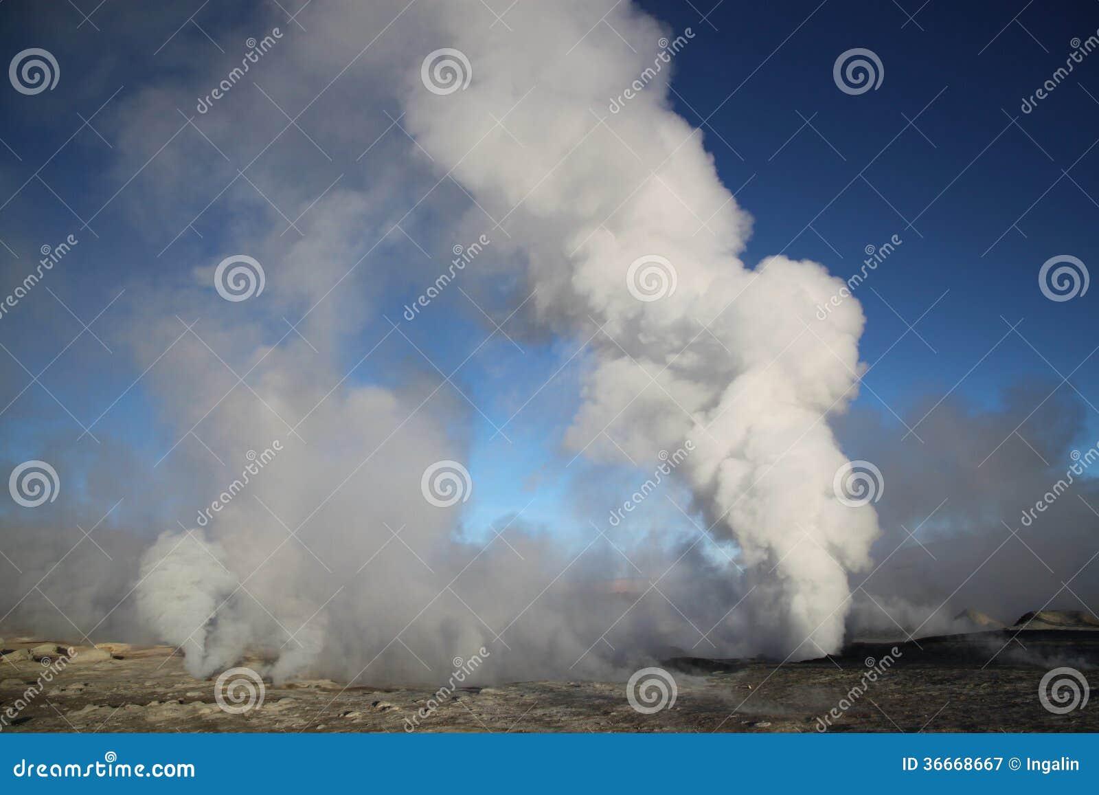 Geothermisch gebied, Bolivië, Zuid-Amerika