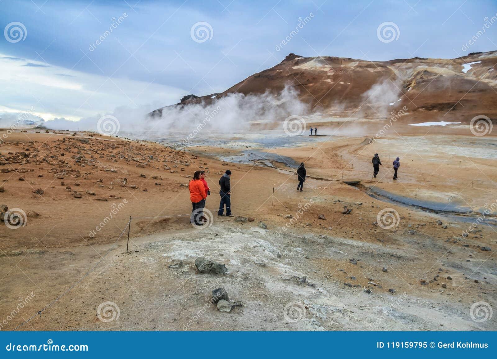Geothermisch gebied Namafjall Hverir in IJsland