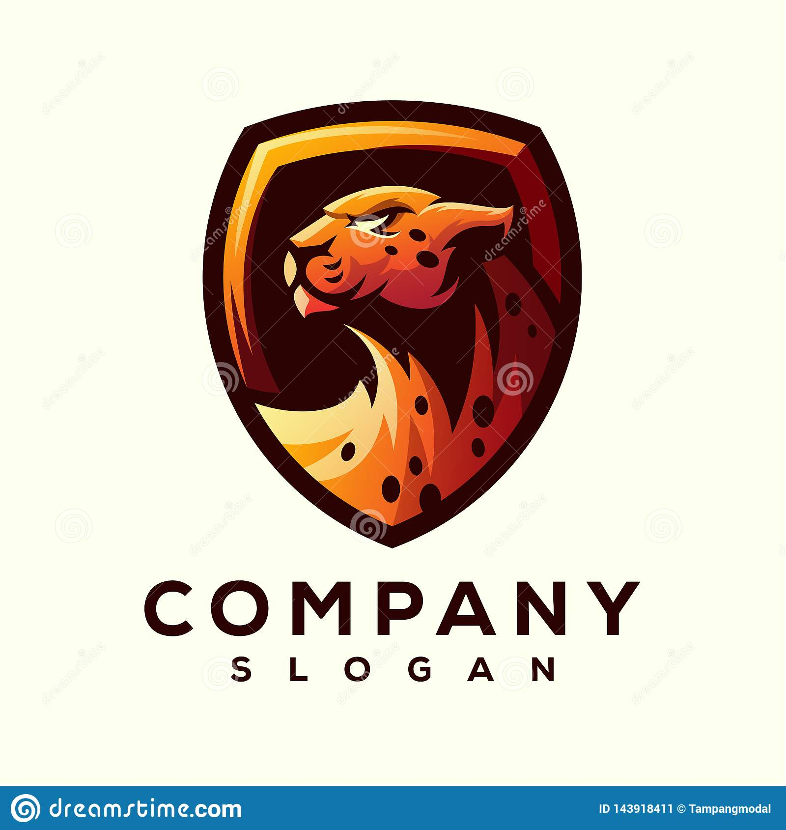 Gepardlogodesign som är klar att använda