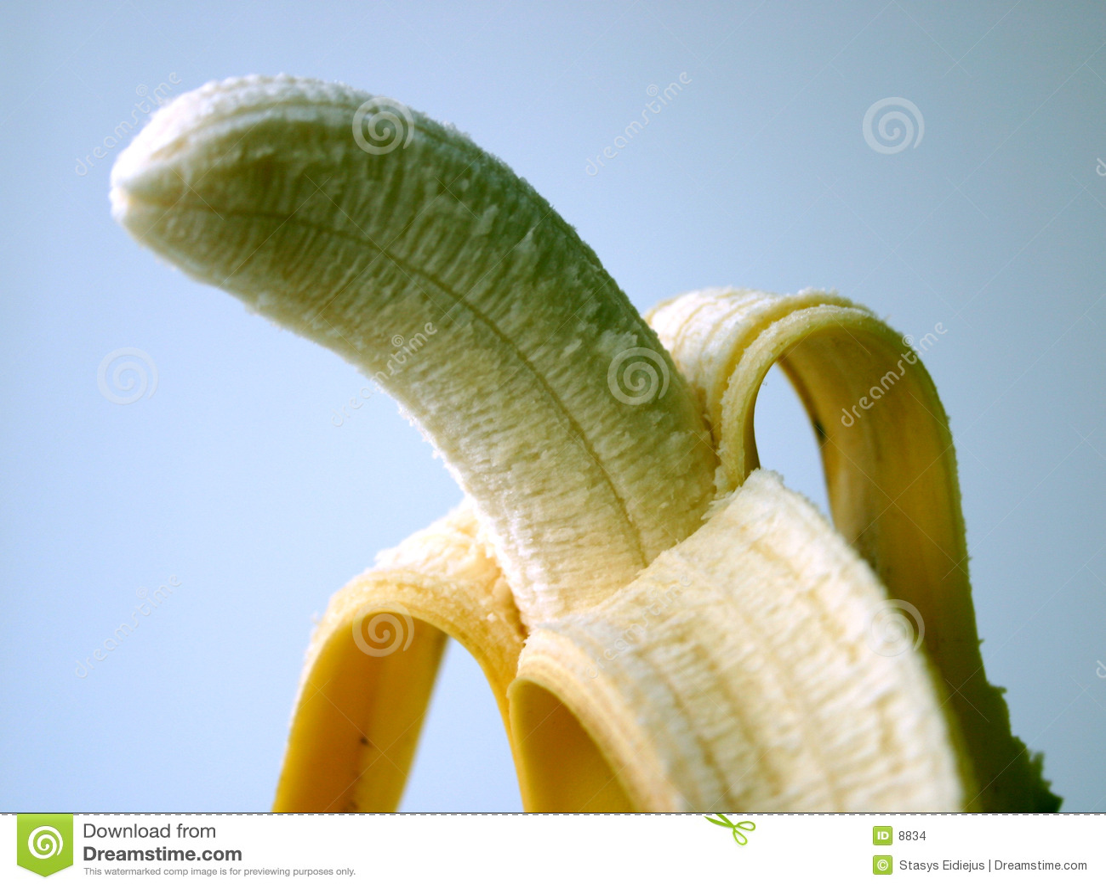 Gepelde banaan