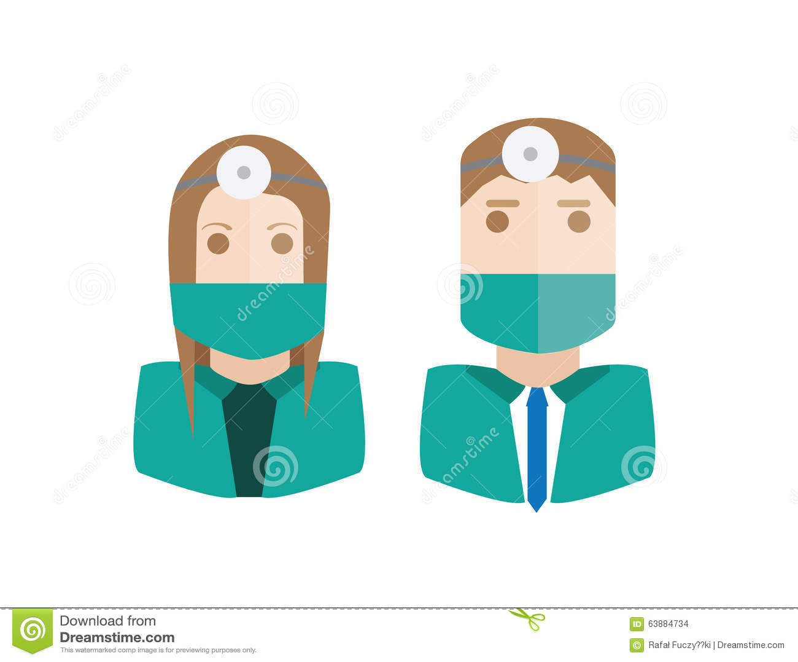 Geplaatst chirurgenavatars