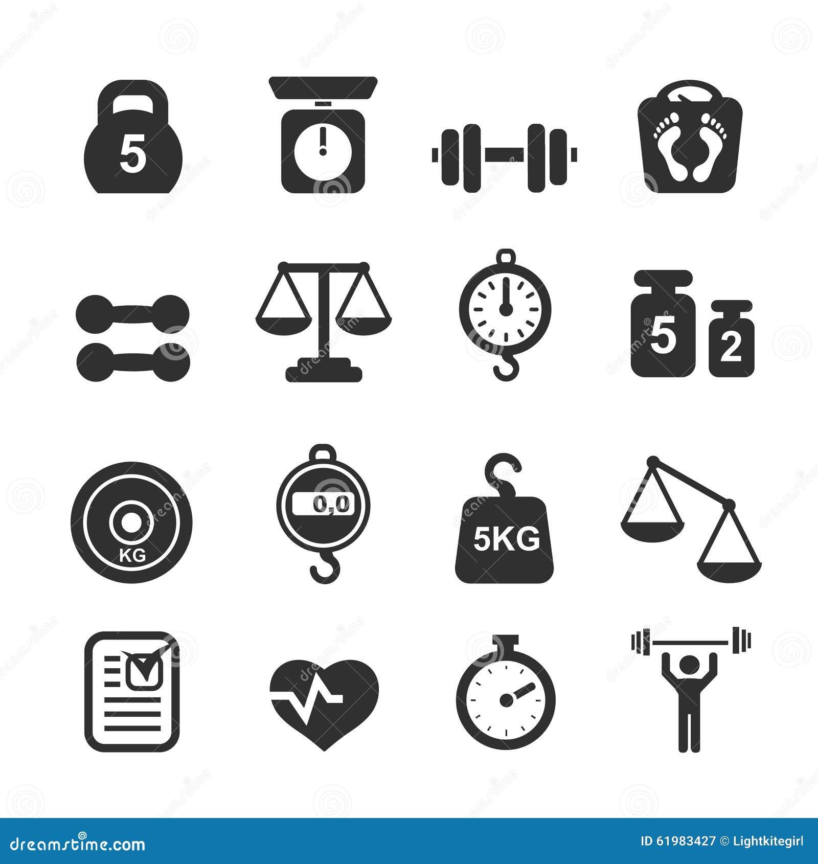 Geplaatst gewichtspictogram - schalen