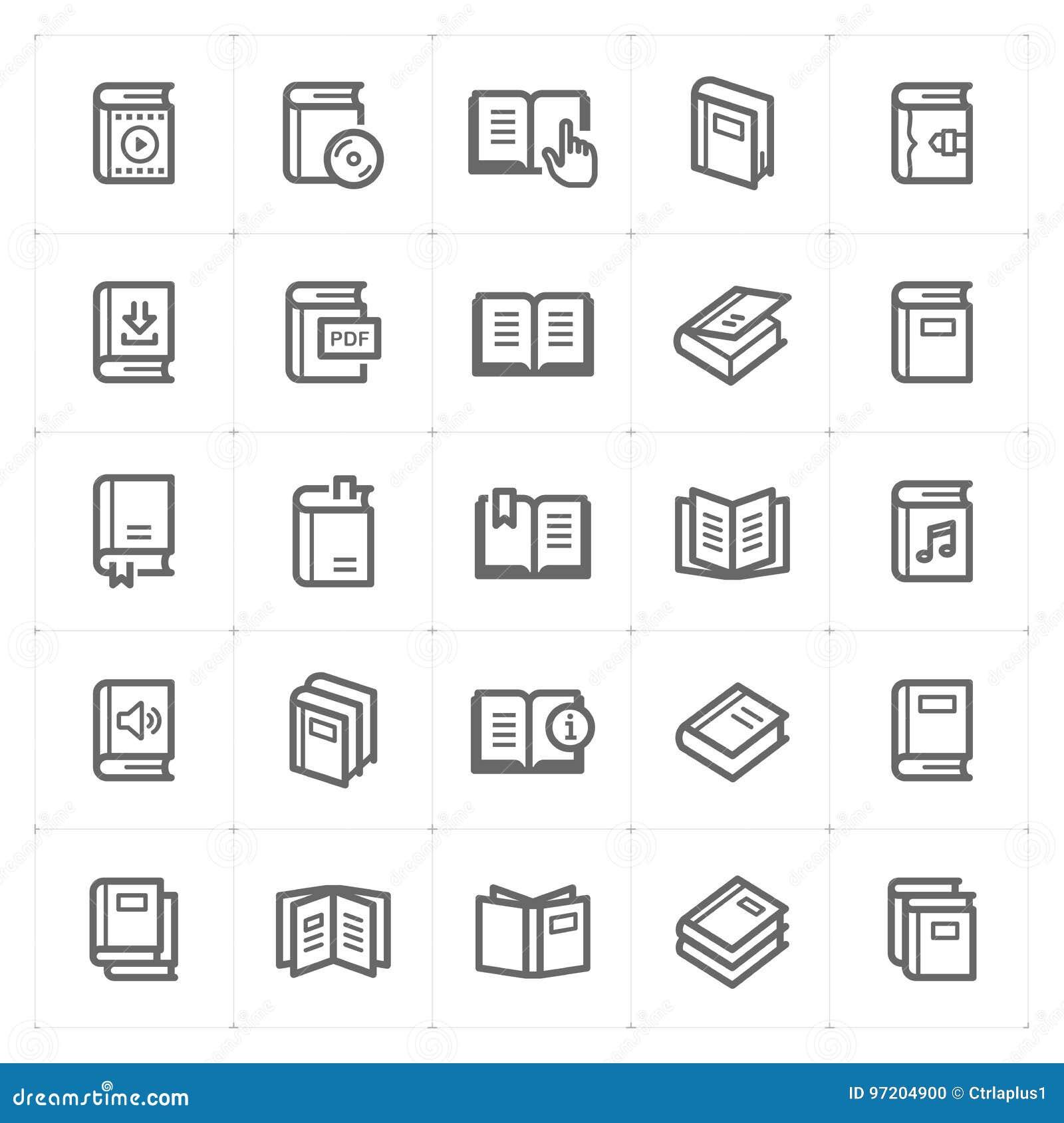 Geplaatst pictogram - de slag van het boekoverzicht