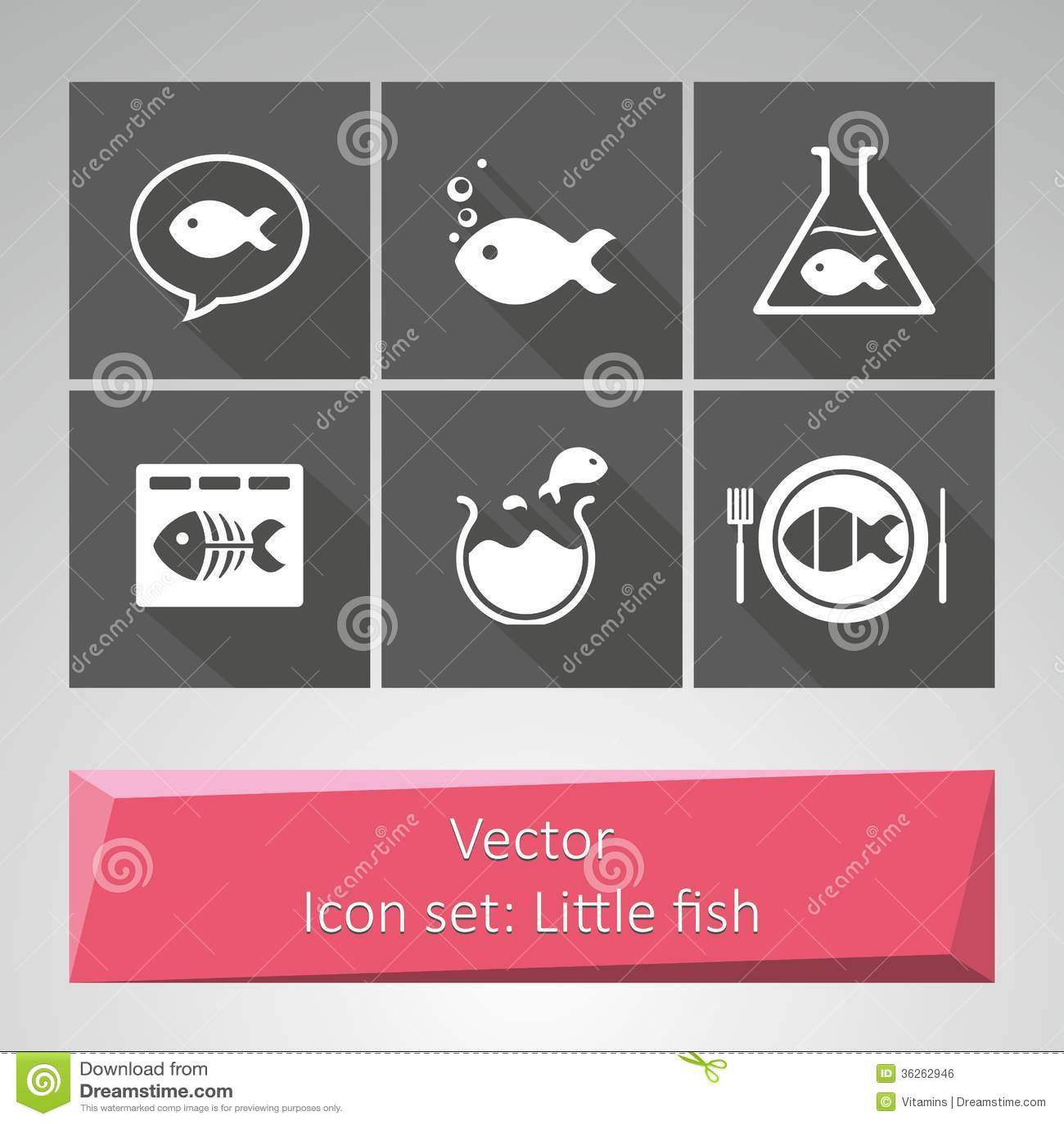 Geplaatst pictogram: Weinig vis