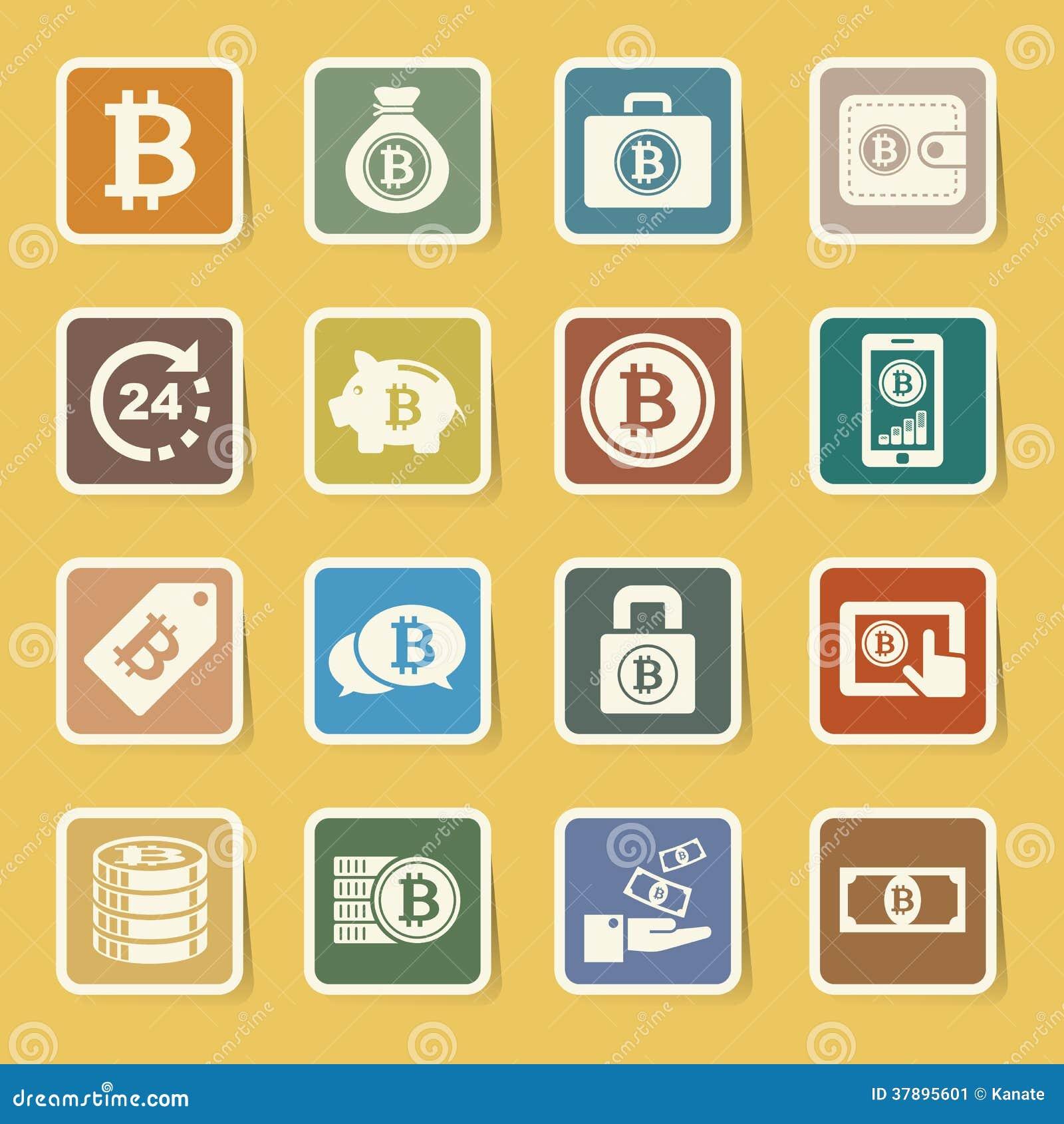 Geplaatste Bitcoinpictogrammen