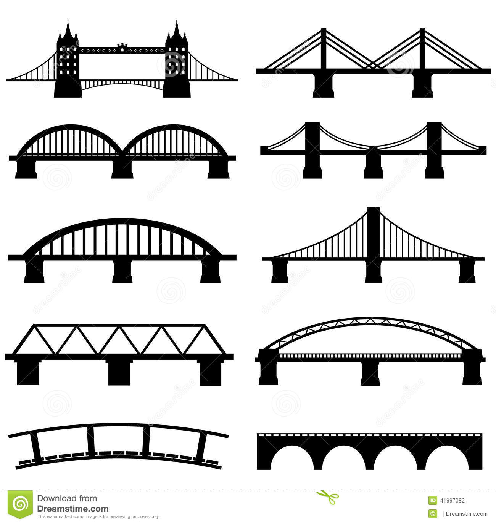 Geplaatste brugpictogrammen