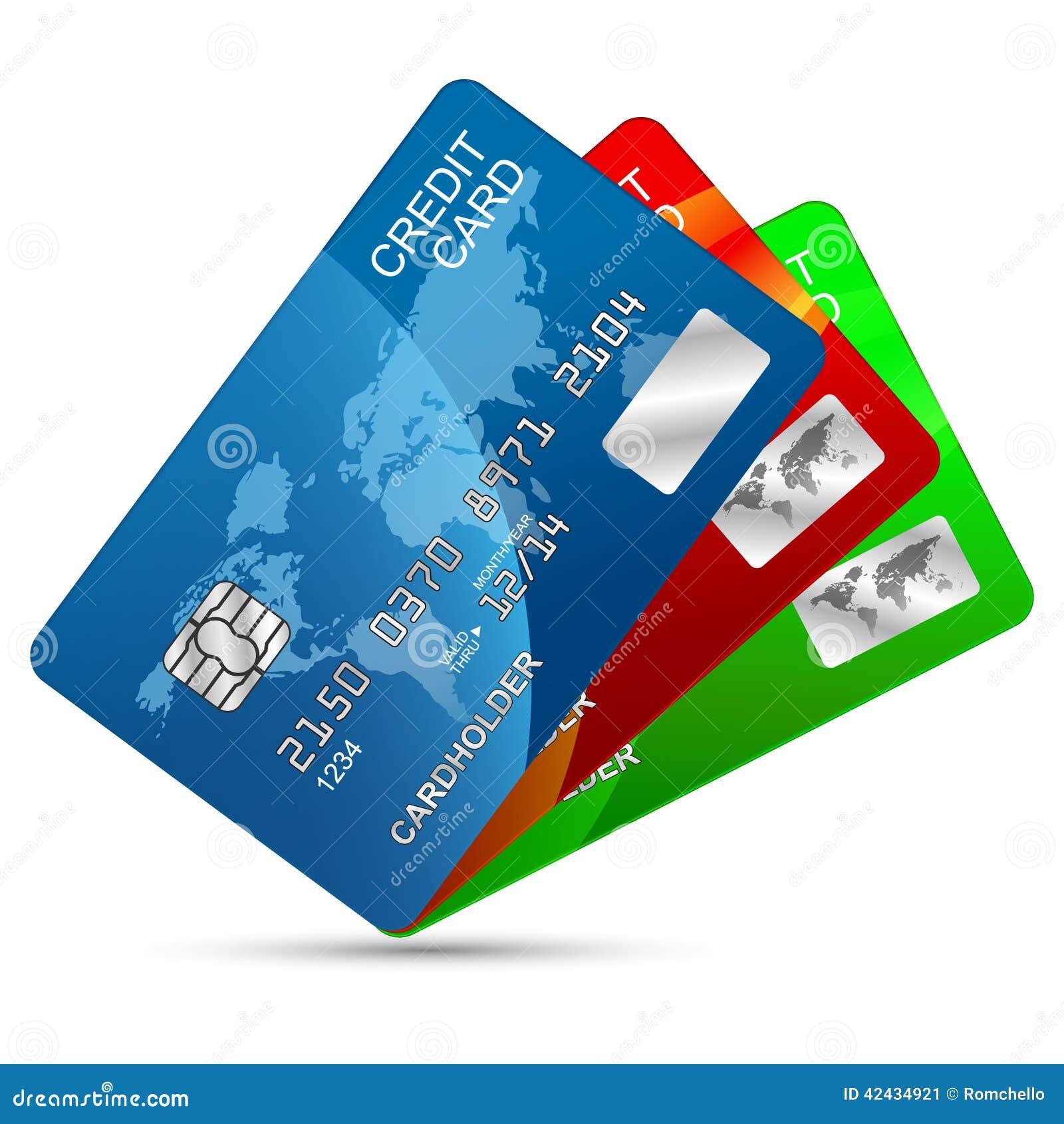 Geplaatste creditcards