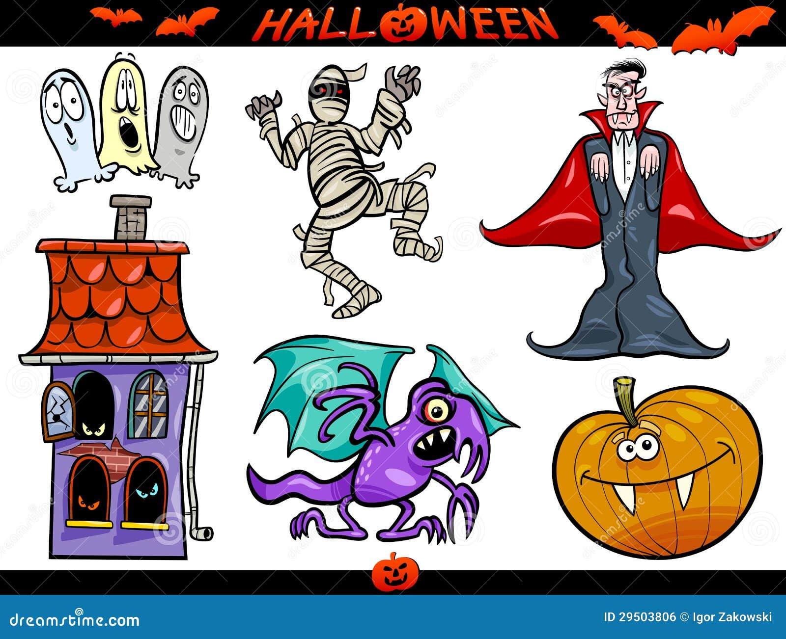 Geplaatste de Thema s van het Beeldverhaal van Halloween
