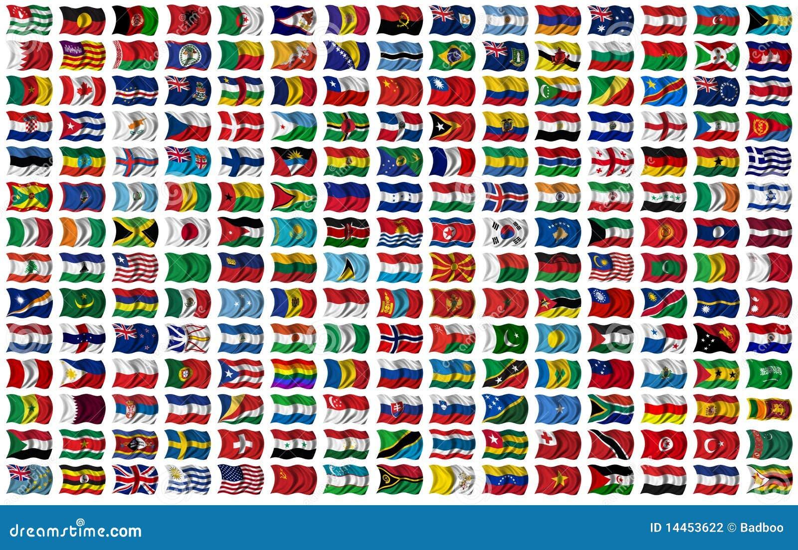 Geplaatste de vlaggen van de wereld stock fotografie afbeelding 14453622 - De thuisbasis van de wereld chesterfield ...