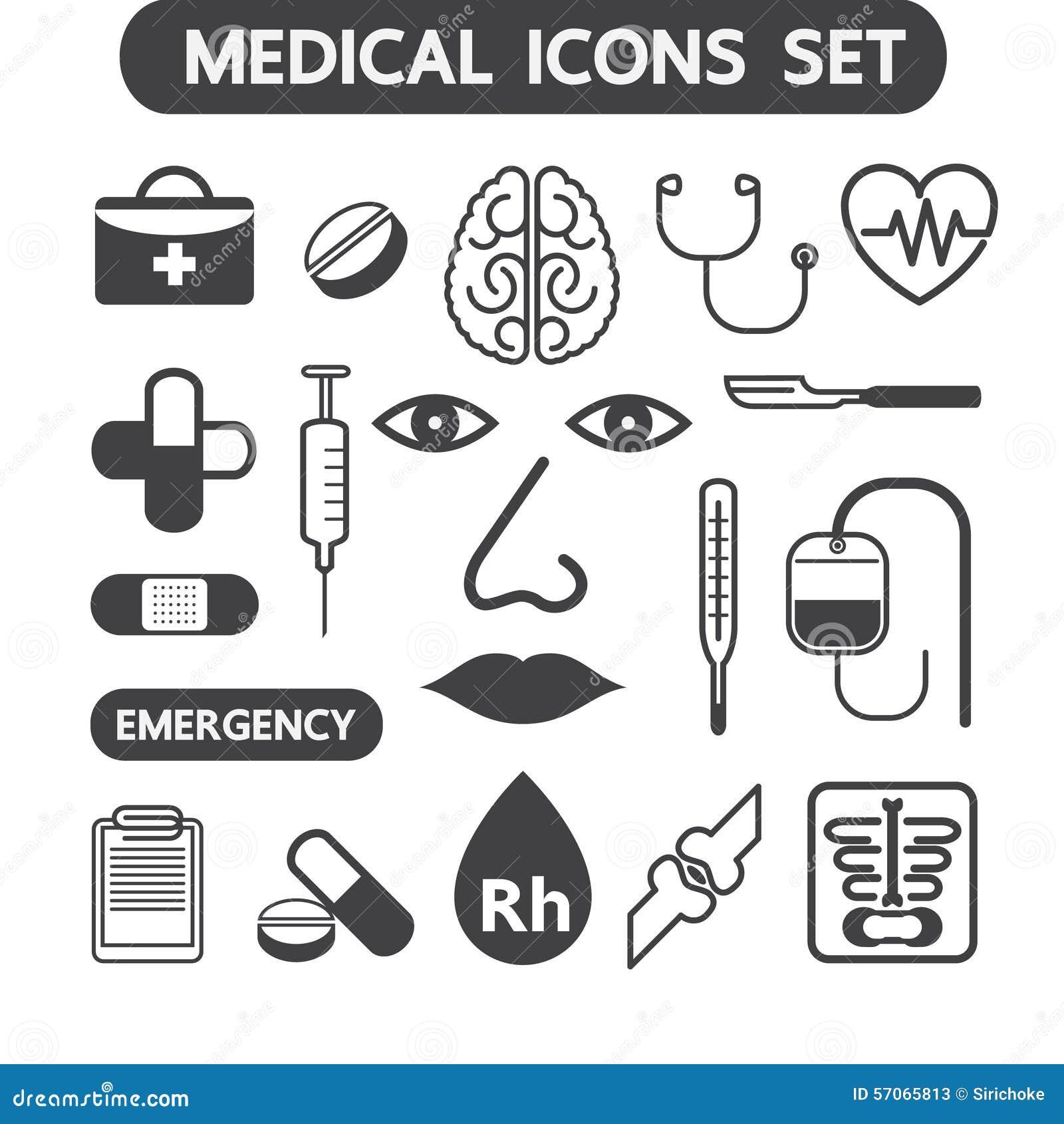 Geplaatste gezondheid en Medische pictogrammen