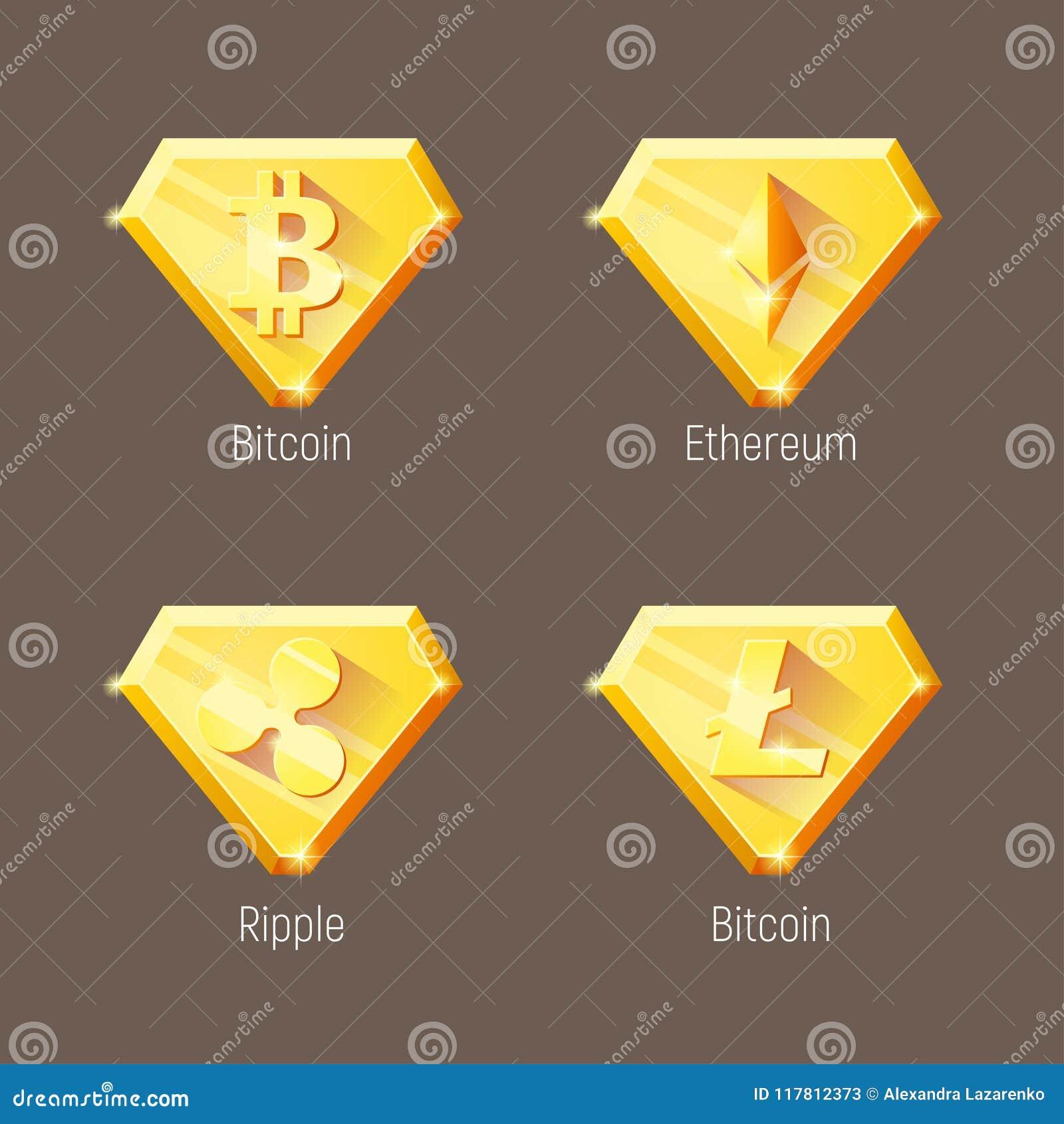 Geplaatste het embleemdiamanten van de Criptomunt
