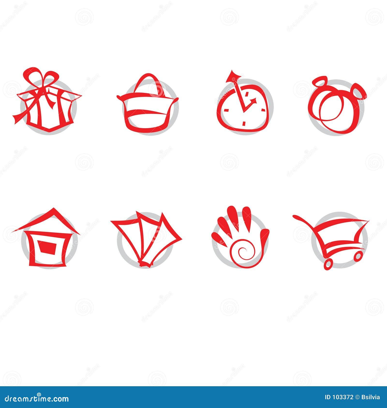 Geplaatste pictogrammen - winkelend