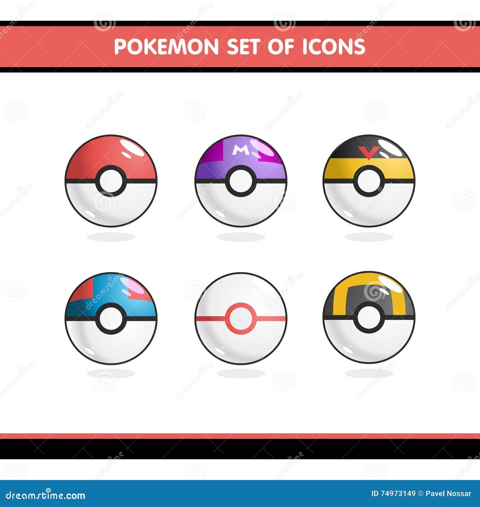 Geplaatste Pokemonpictogrammen