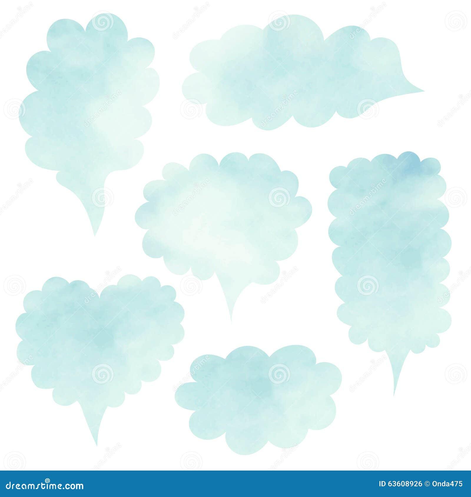 Geplaatste wolken De lege reeks van het malplaatjecitaat Malplaatje vectorreeks