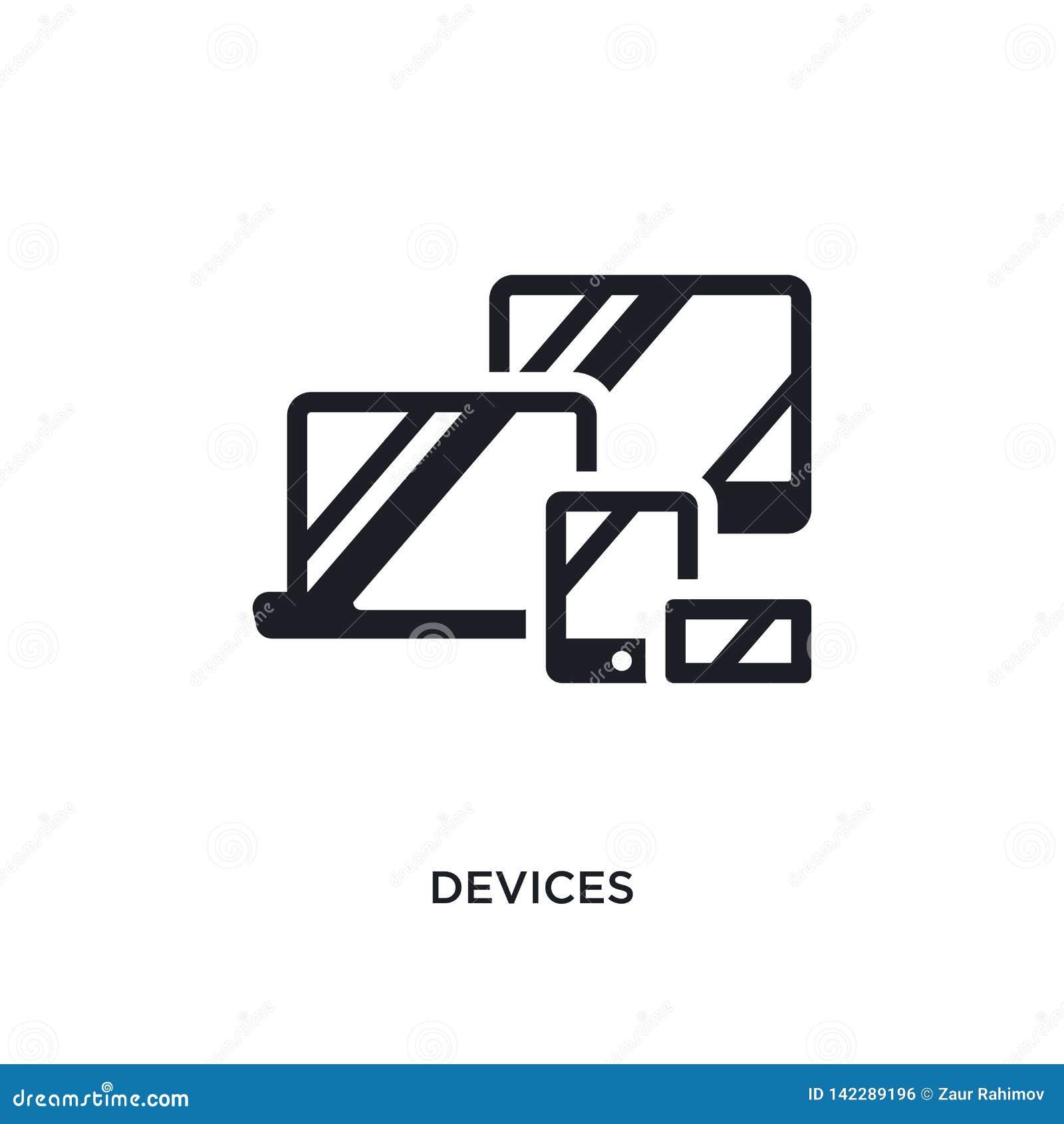 Geräte lokalisierte Ikone einfache Elementillustration von den Konzeptikonen der elektronischen Geräte Logozeichen-Symbolentwurf