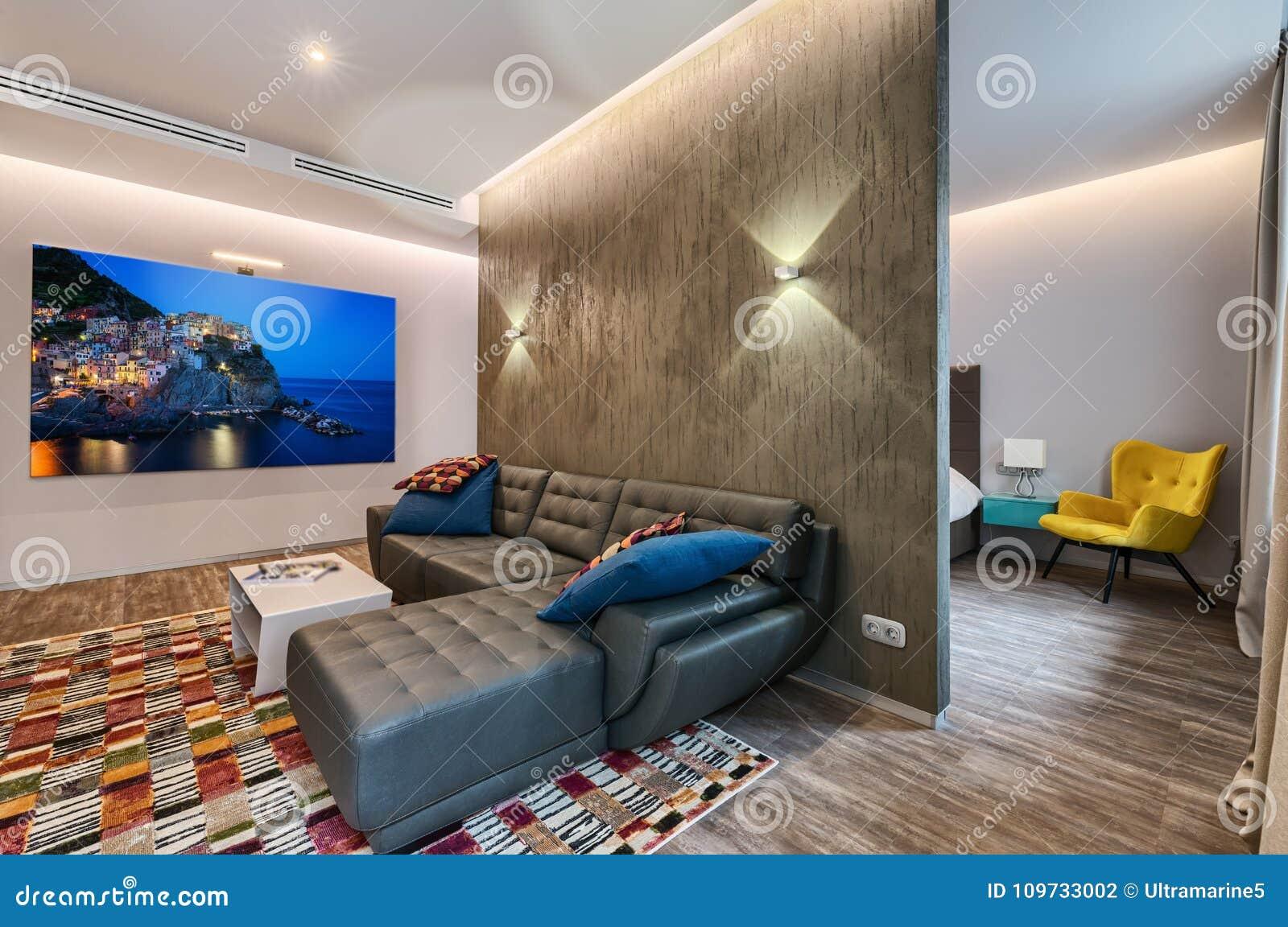 Geräumiger Studiowohnungsinnenraum
