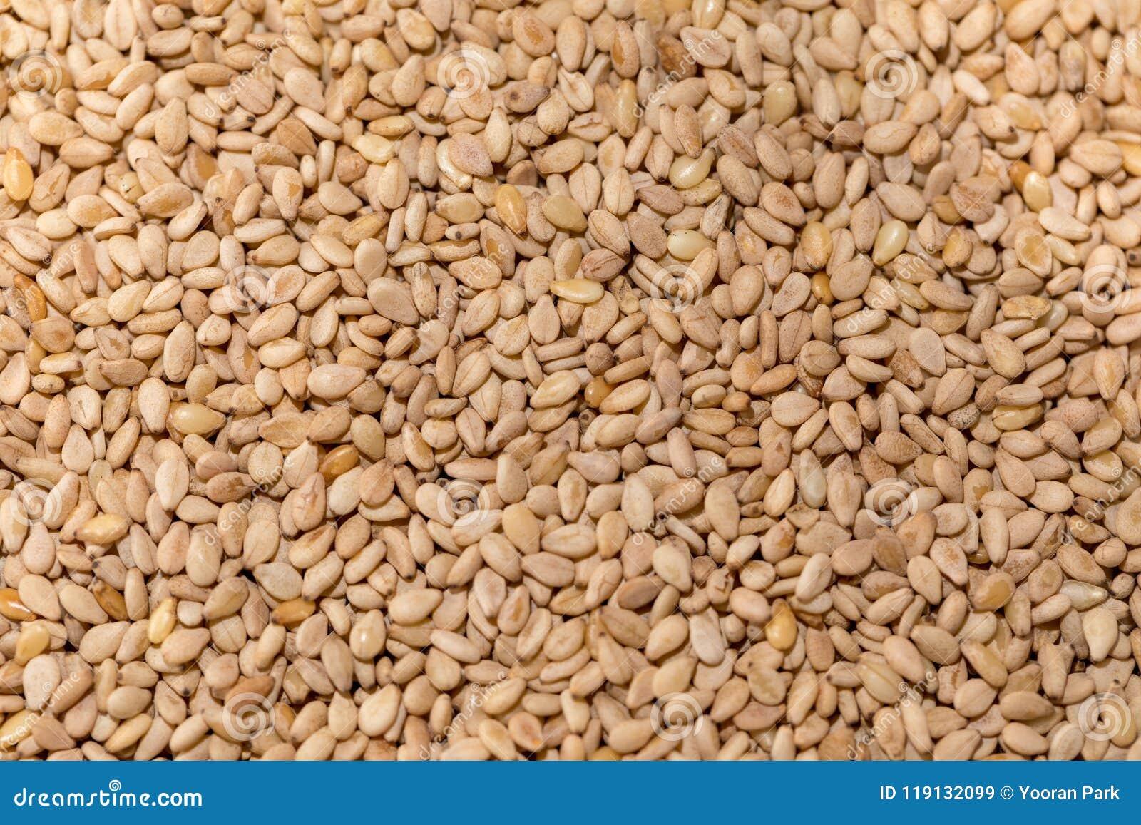 Geröstete Samen des indischen Sesams