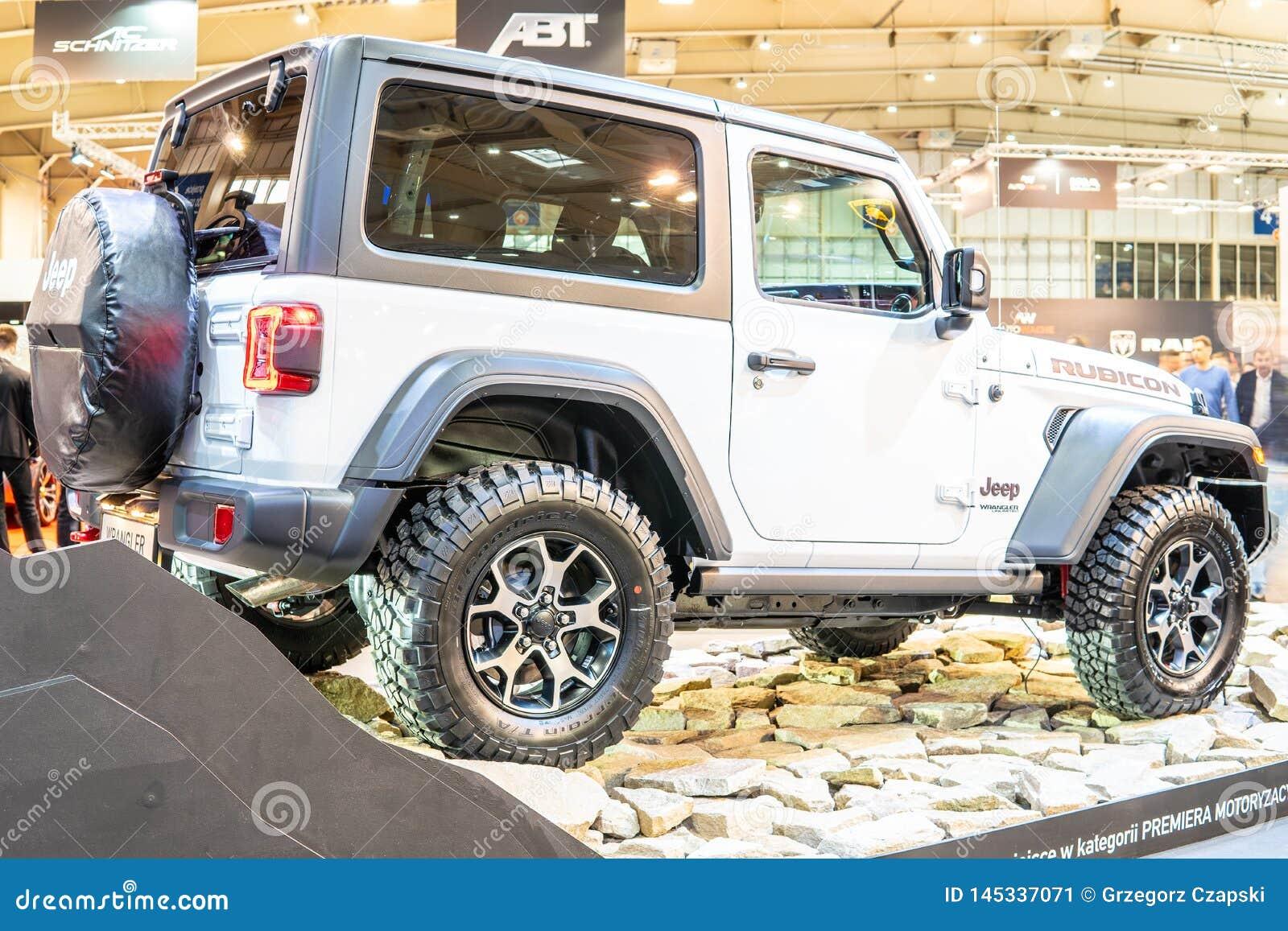 Gera??o de Jeep Wrangler Rubicon quarta, JL, ve?culo fora de estrada do quatro rodas motrizes fabricado pelo jipe