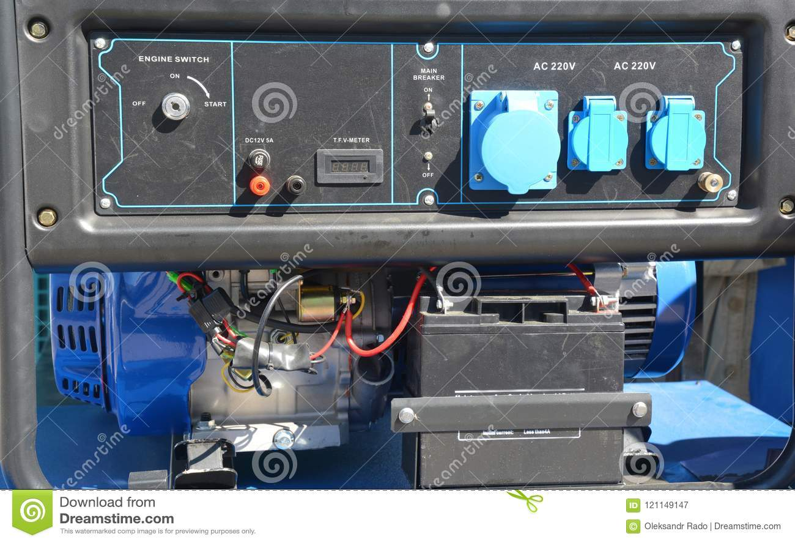 Gerador à espera - equipamento elétrico exterior Painel de controle à espera do gerador do gerador portátil