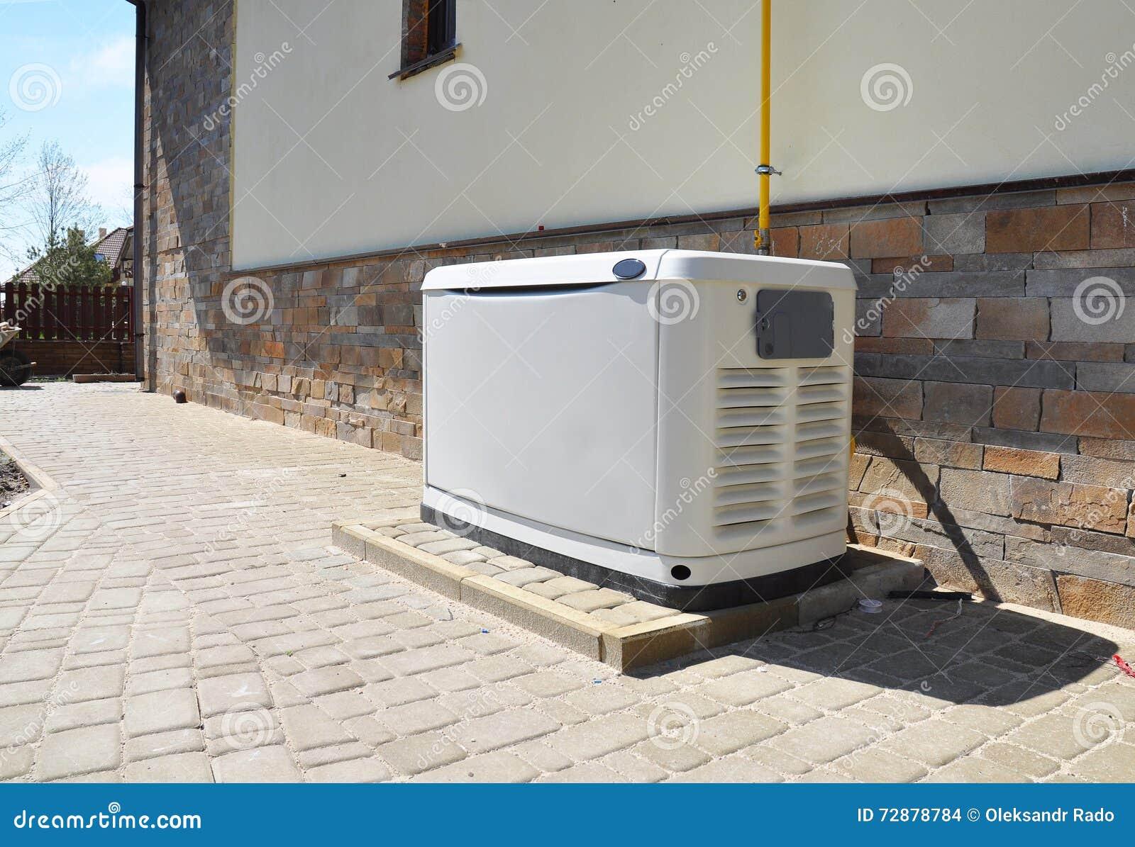 Gerador alternativo grande do gás natural para a construção de casa exterior